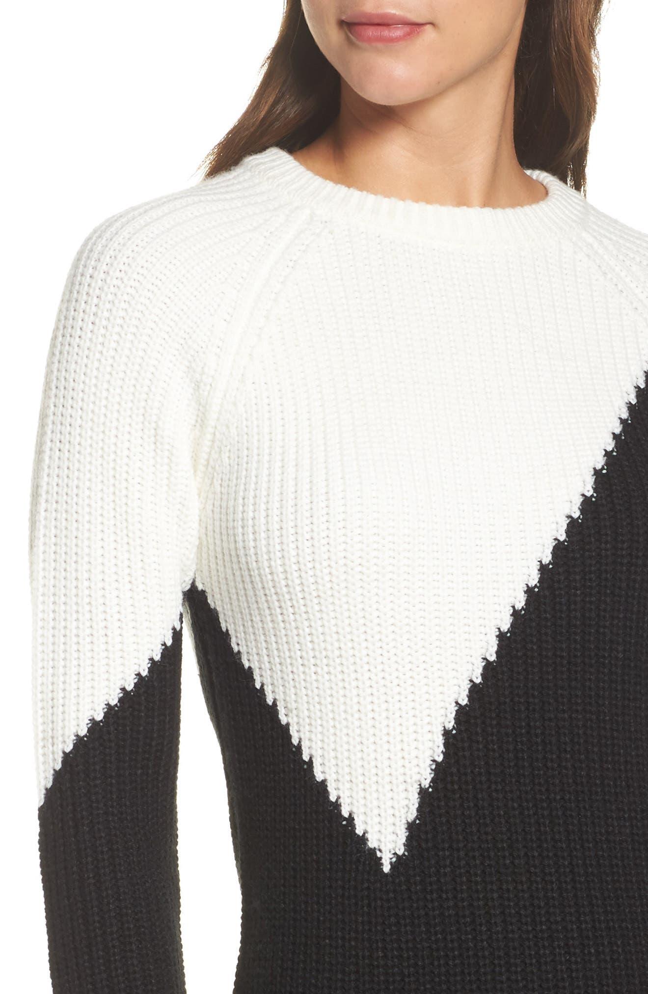 Alternate Image 5  - Vince Camuto Colorblock Sweater Dress (Regular & Petite)