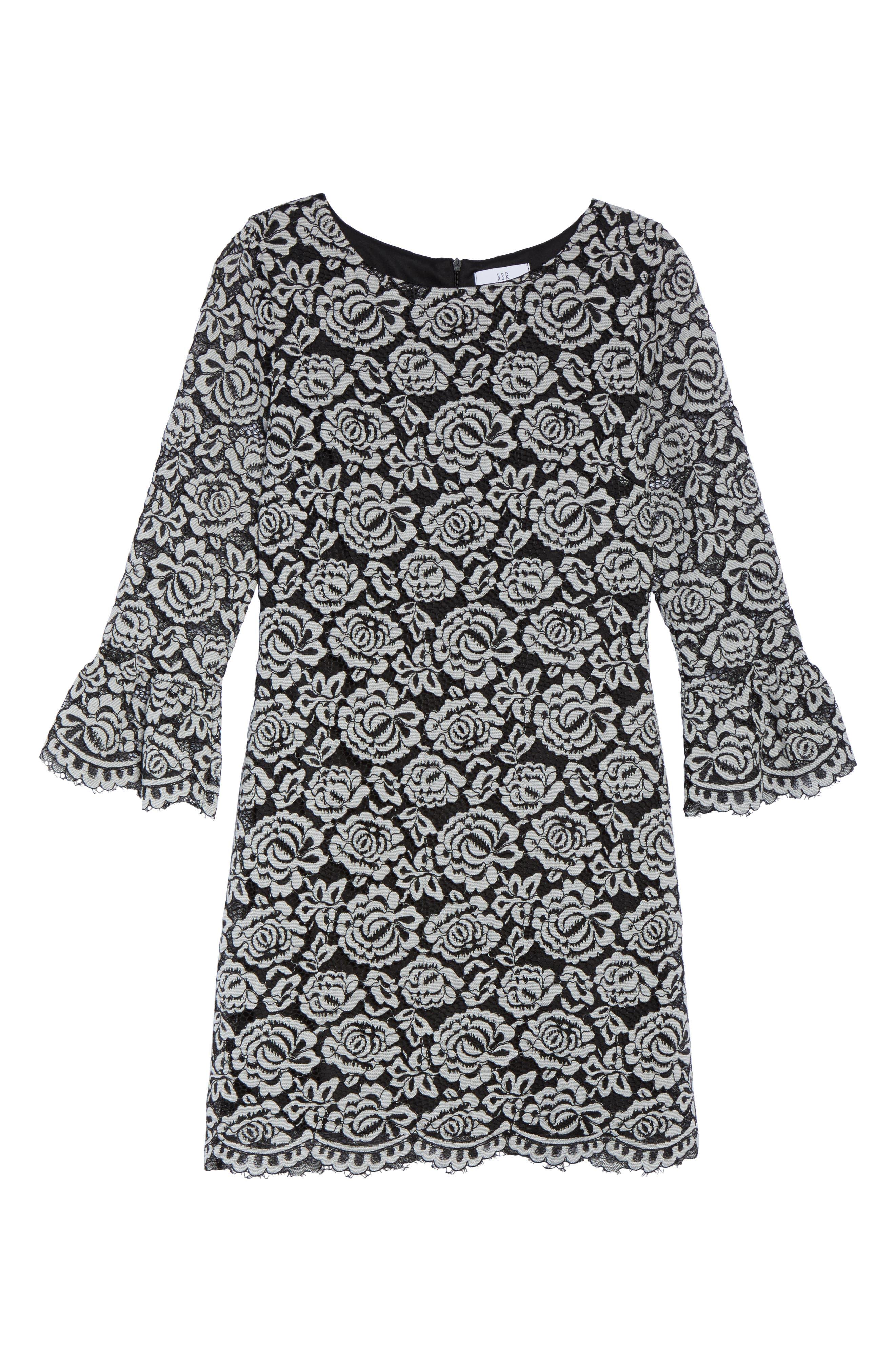 Alternate Image 6  - NSR Lace Bell Sleeve Dress