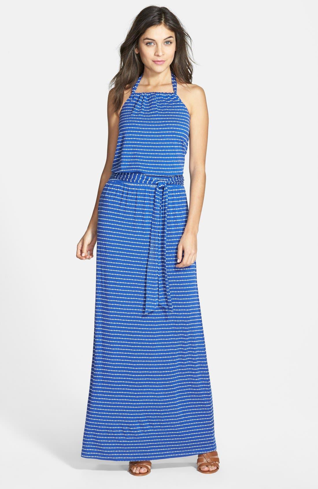 Main Image - Caslon® Stretch Knit Halter Maxi Dress