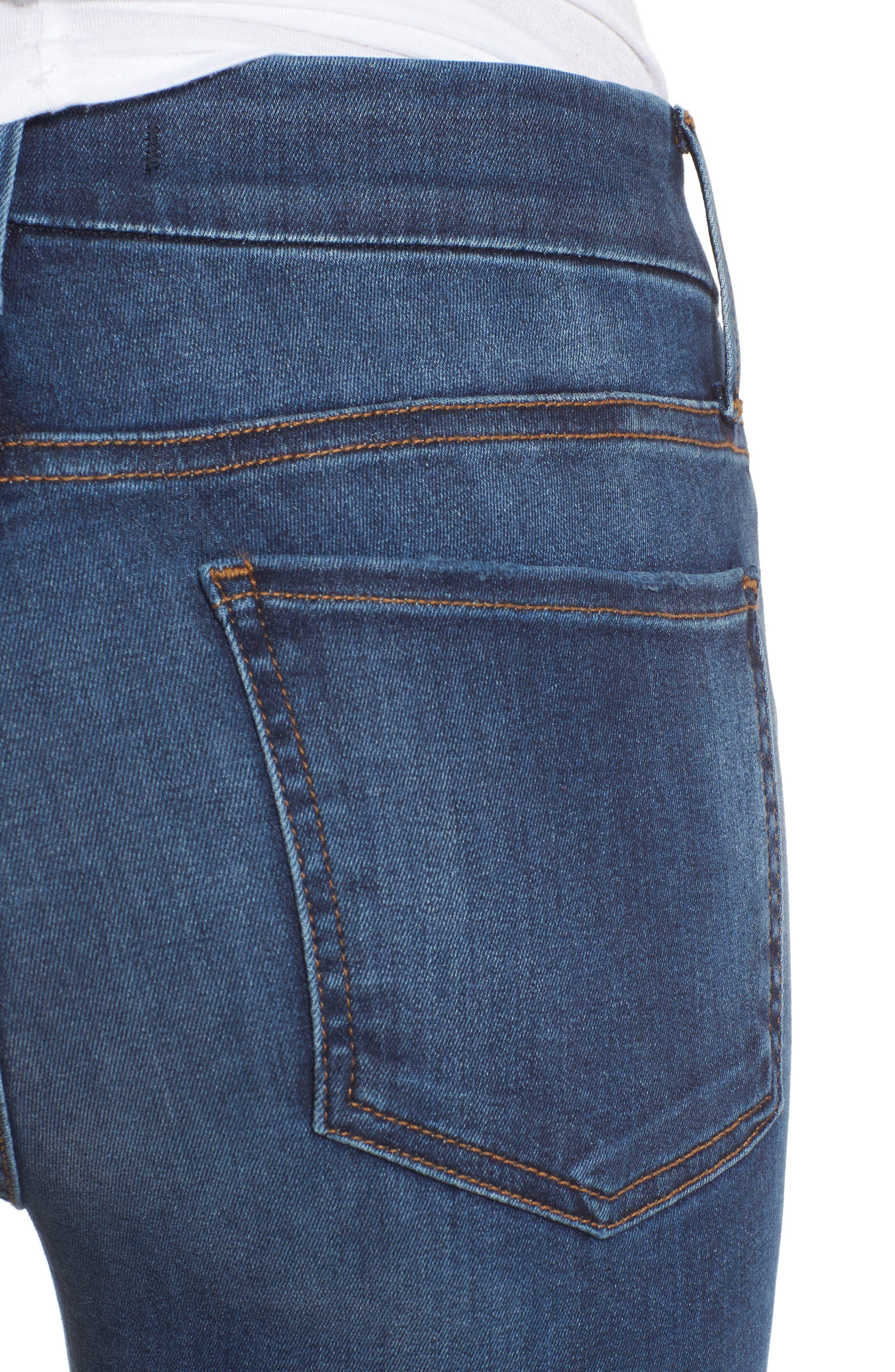 Alternate Image 4  - Fidelity Denim Belvedere Skinny Jeans (Vintage Blue)