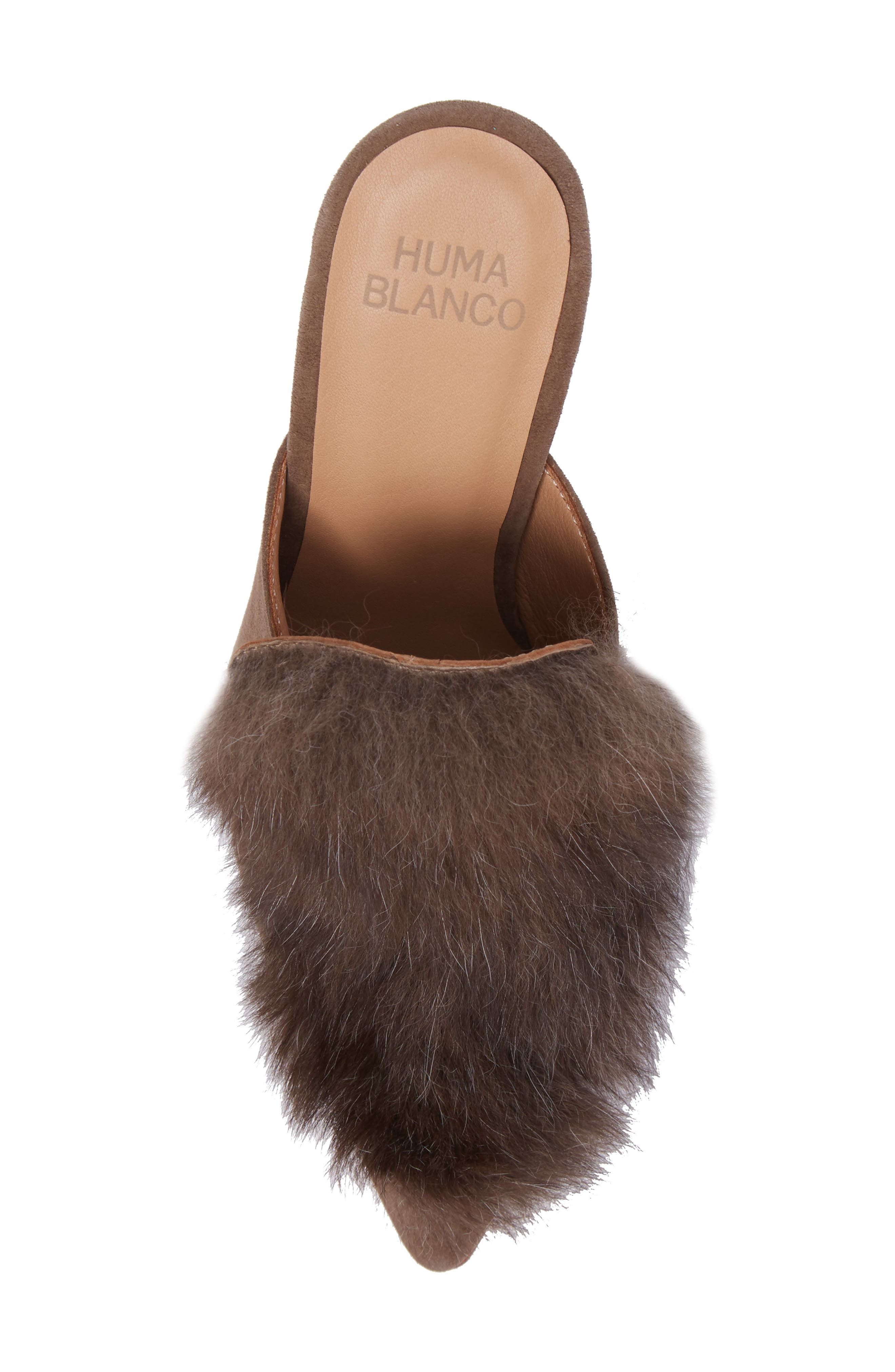 Alternate Image 5  - Huma Blanco Marietta Genuine Alpaca Hair Mule (Women)