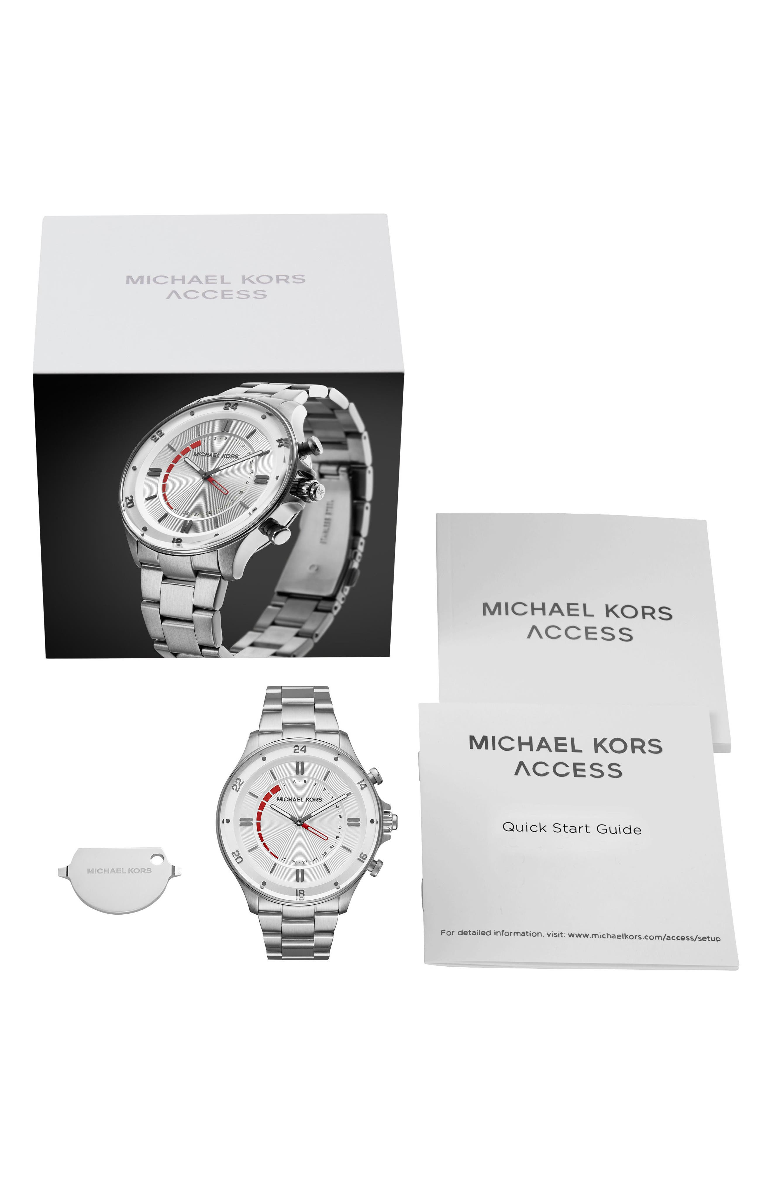 Alternate Image 5  - Michael Kors Access Reid Hybrid Bracelet Watch, 45mm