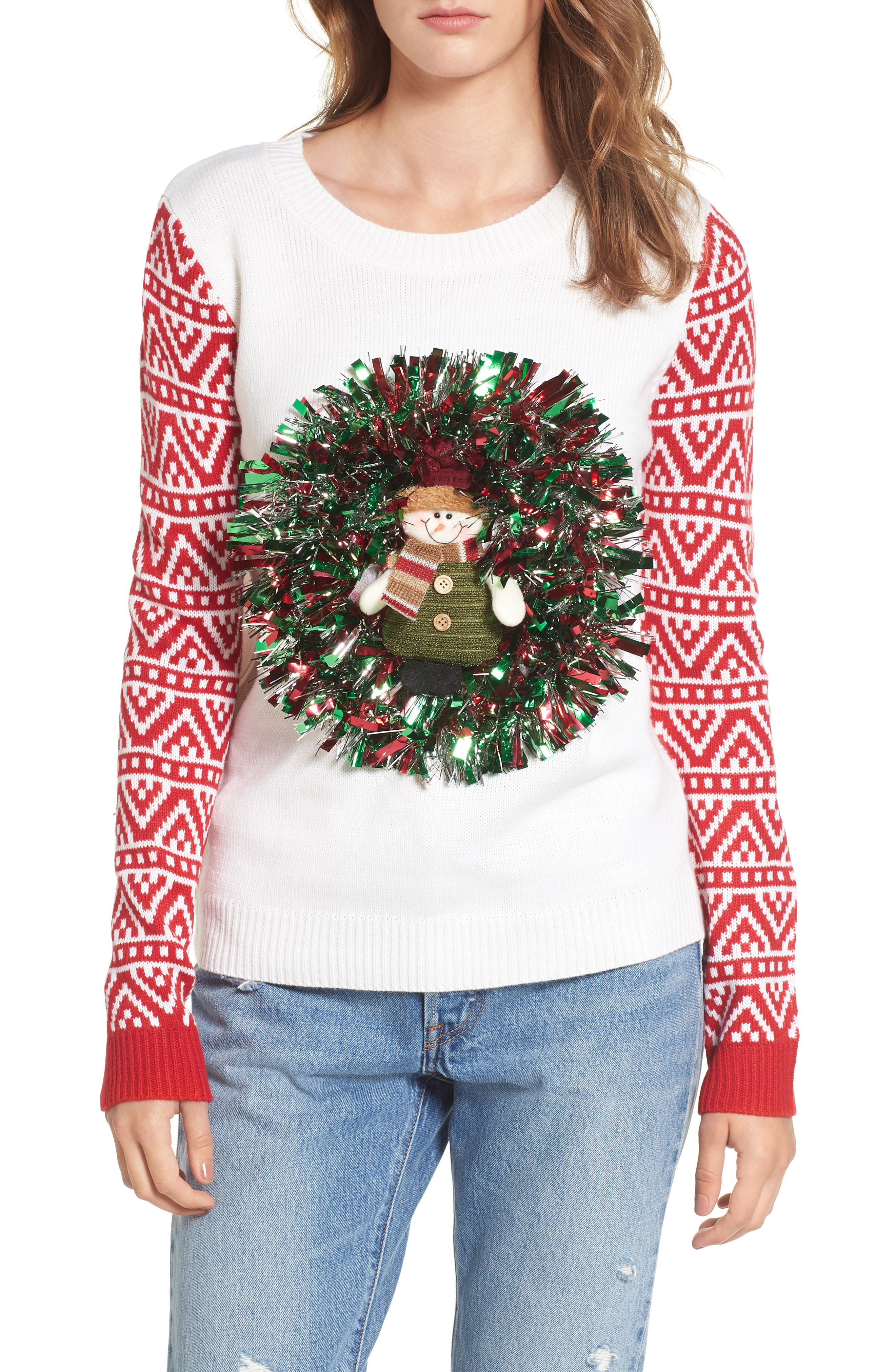 Love by Design Snowman Wreath Sweater