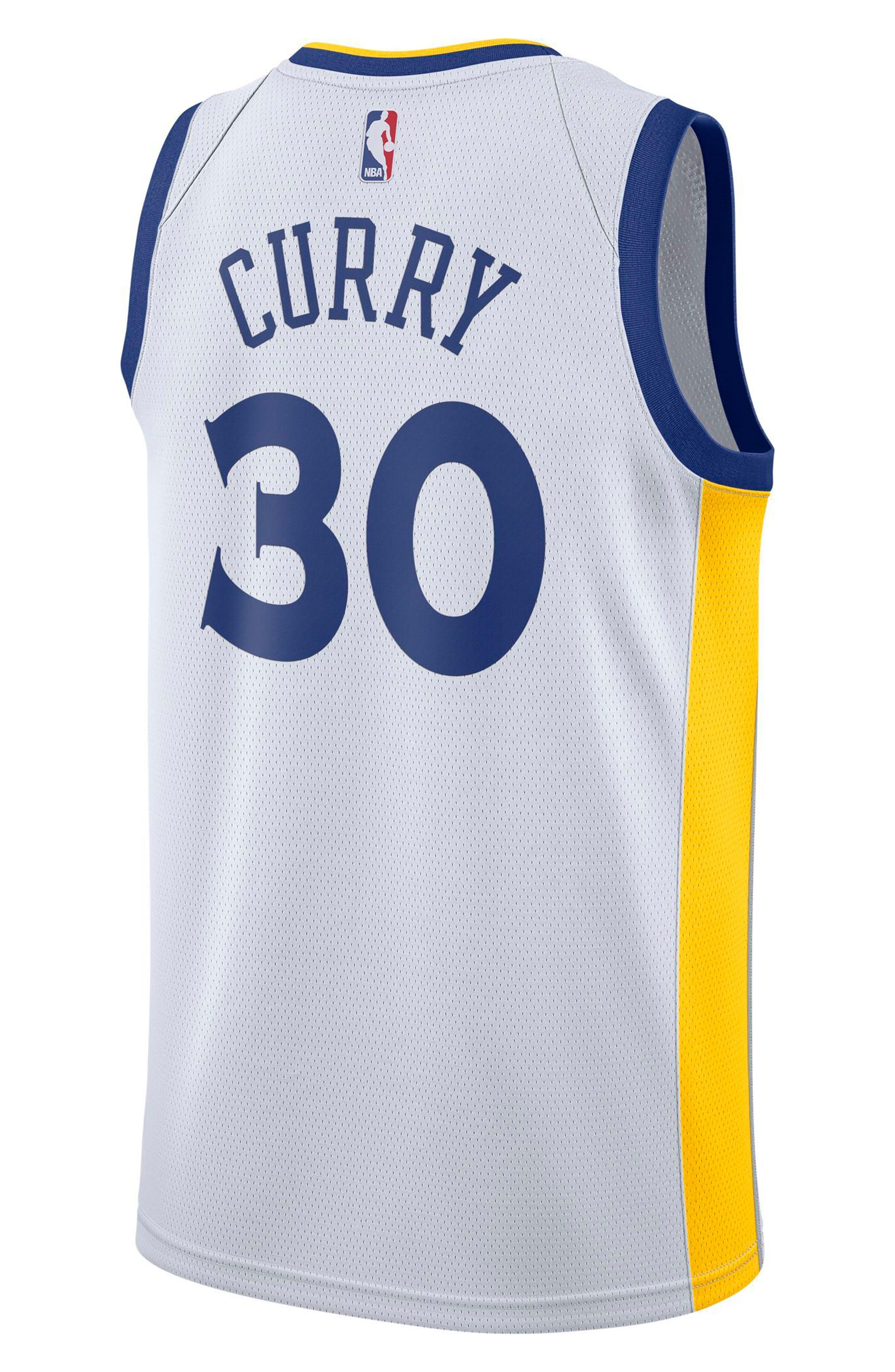 Golden State Warriors Nike Association Edition Swingman Men's NBA Jersey,                             Alternate thumbnail 2, color,                             White/ Amarillo/ Rush Blue