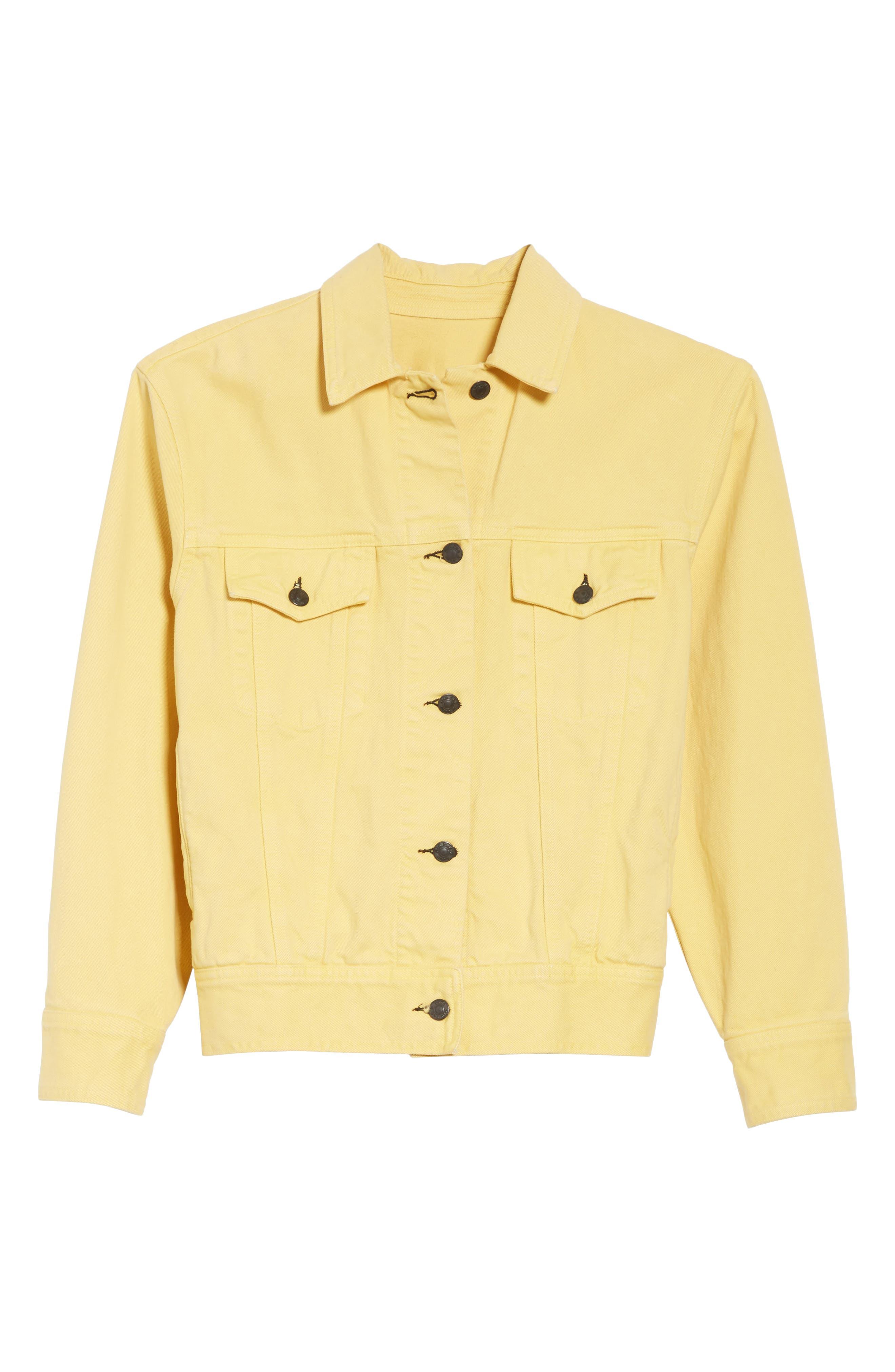 rag & bone Oversize Twill Jacket,                             Alternate thumbnail 6, color,                             Sunrise