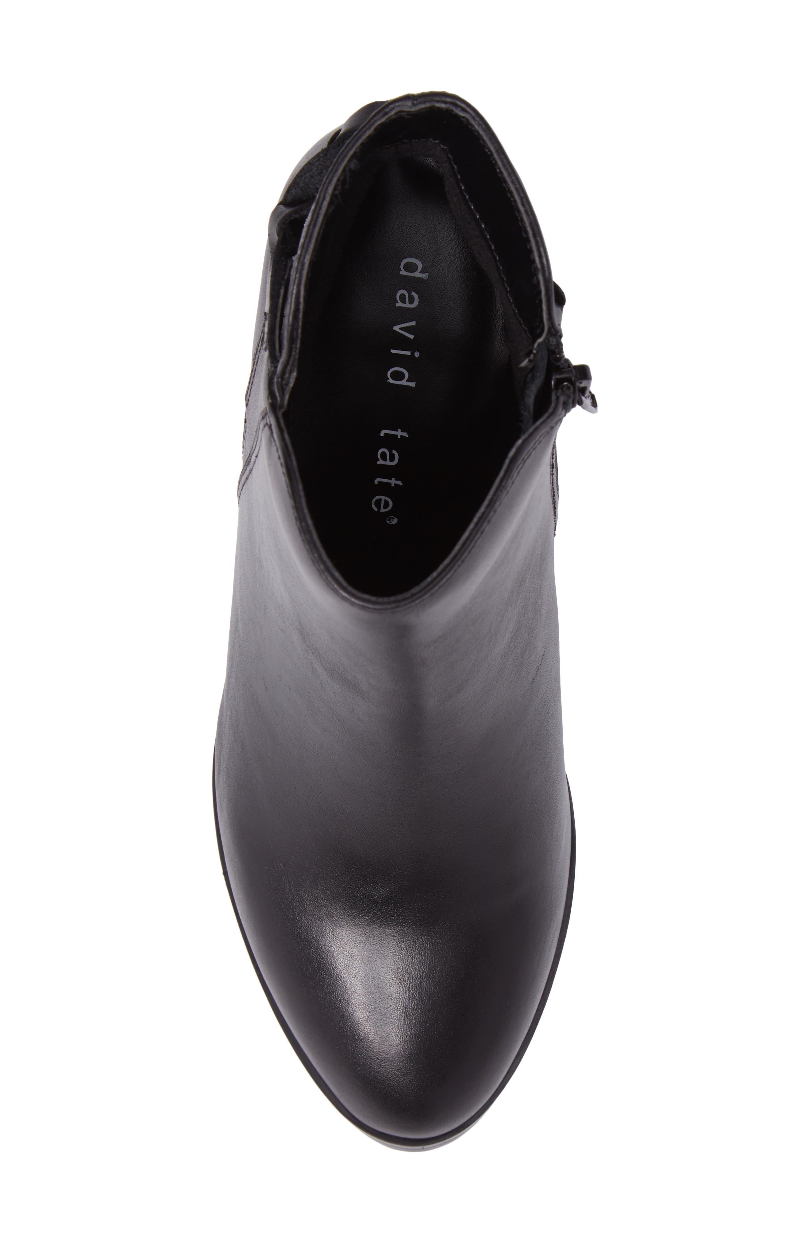Doran Bootie,                             Alternate thumbnail 5, color,                             Black Leather