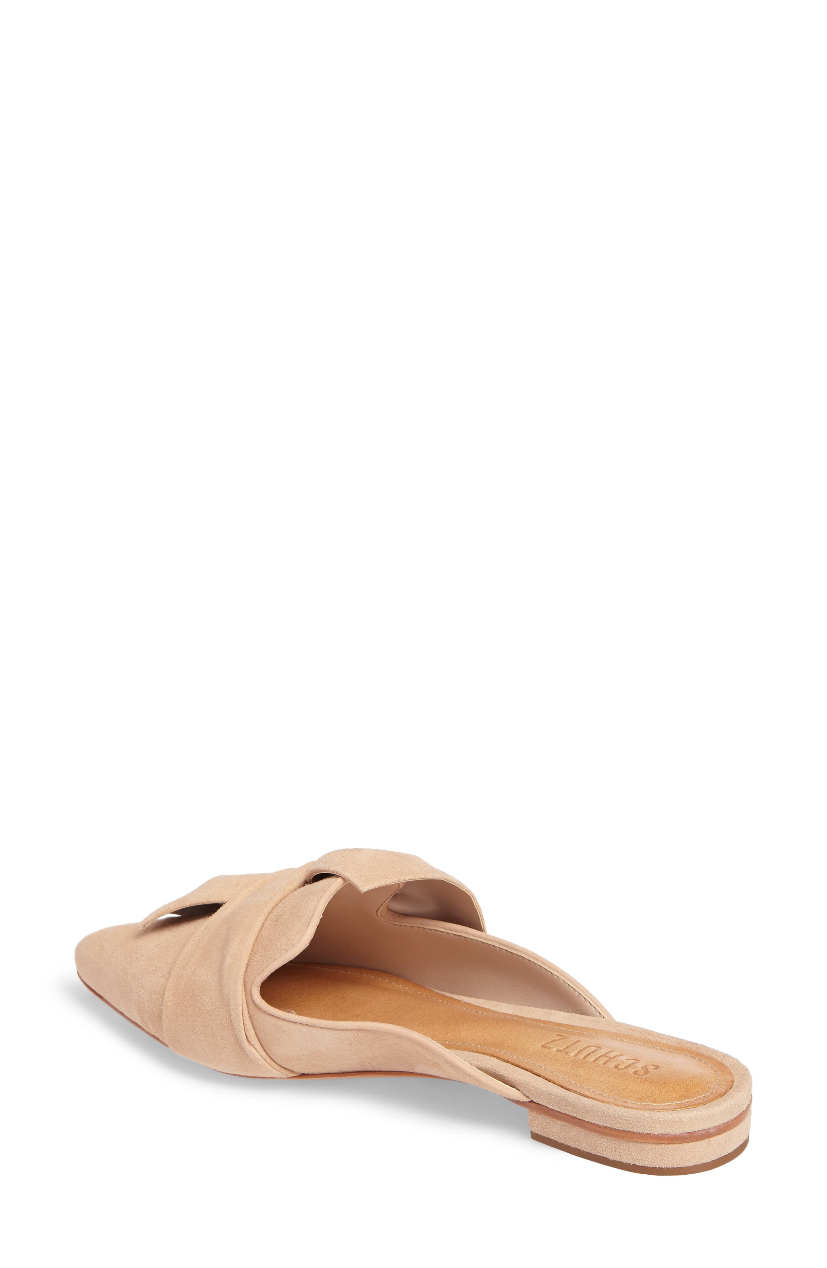 D'Ana Knotted Loafer Mule,                             Alternate thumbnail 2, color,                             Amendoa Nubuck Leather