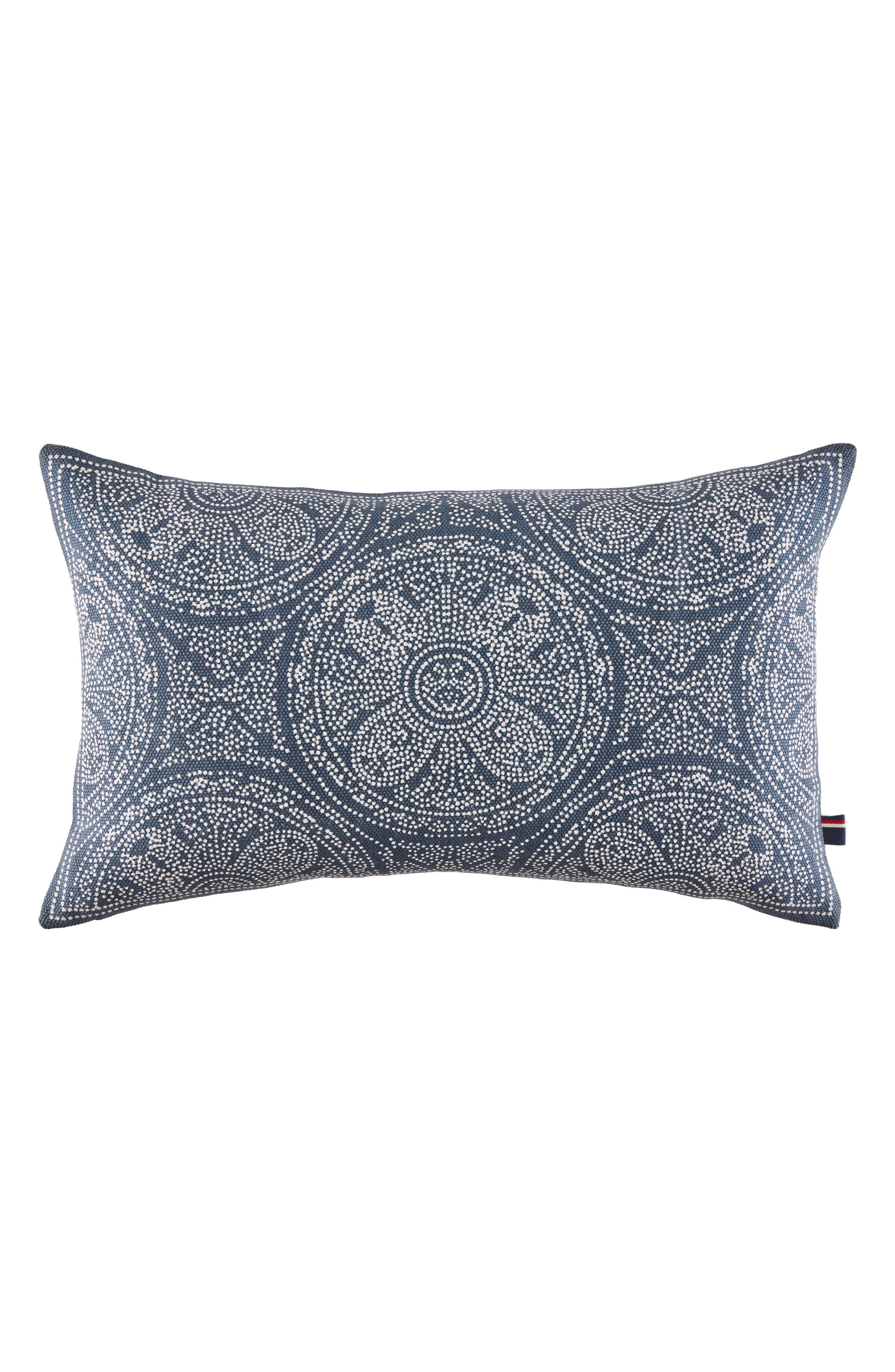 Batik Indigo Accent Pillow,                             Main thumbnail 1, color,                             Navy