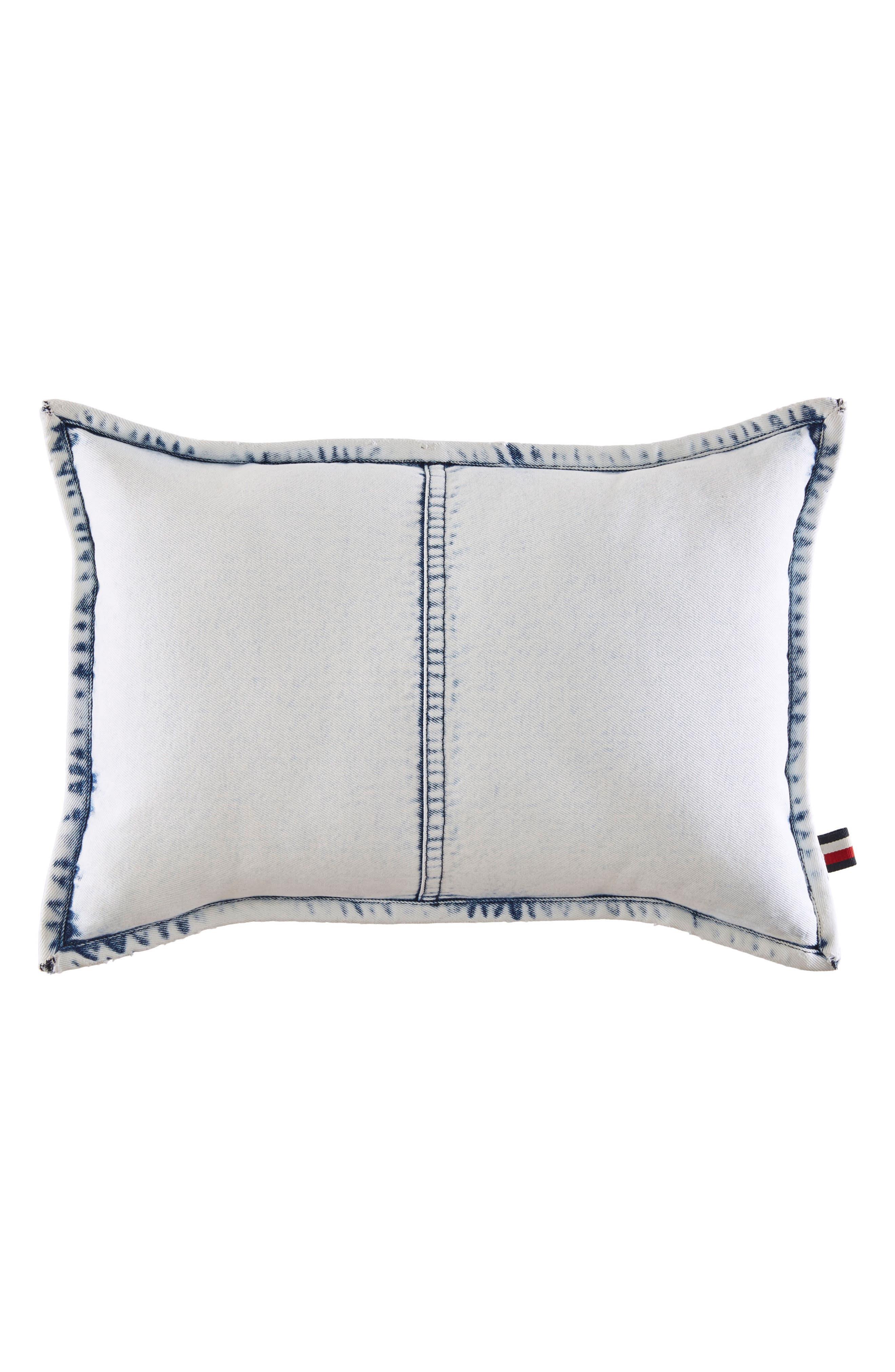 Rip & Repair Accent Pillow,                         Main,                         color, Denim Blue