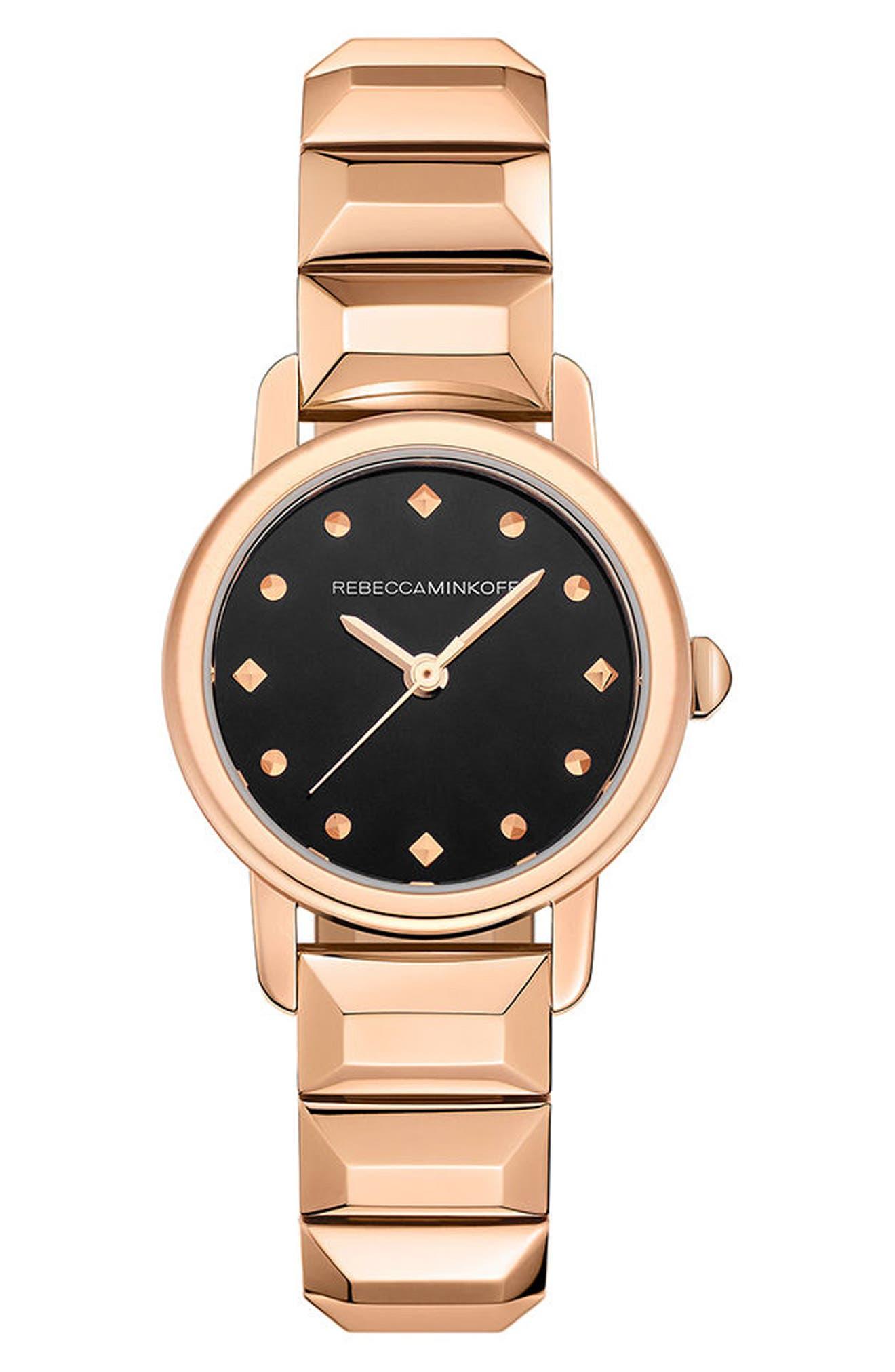 BFFL Bracelet Watch, 25mm,                         Main,                         color, Rose Gold/ Black/ Rose Gold
