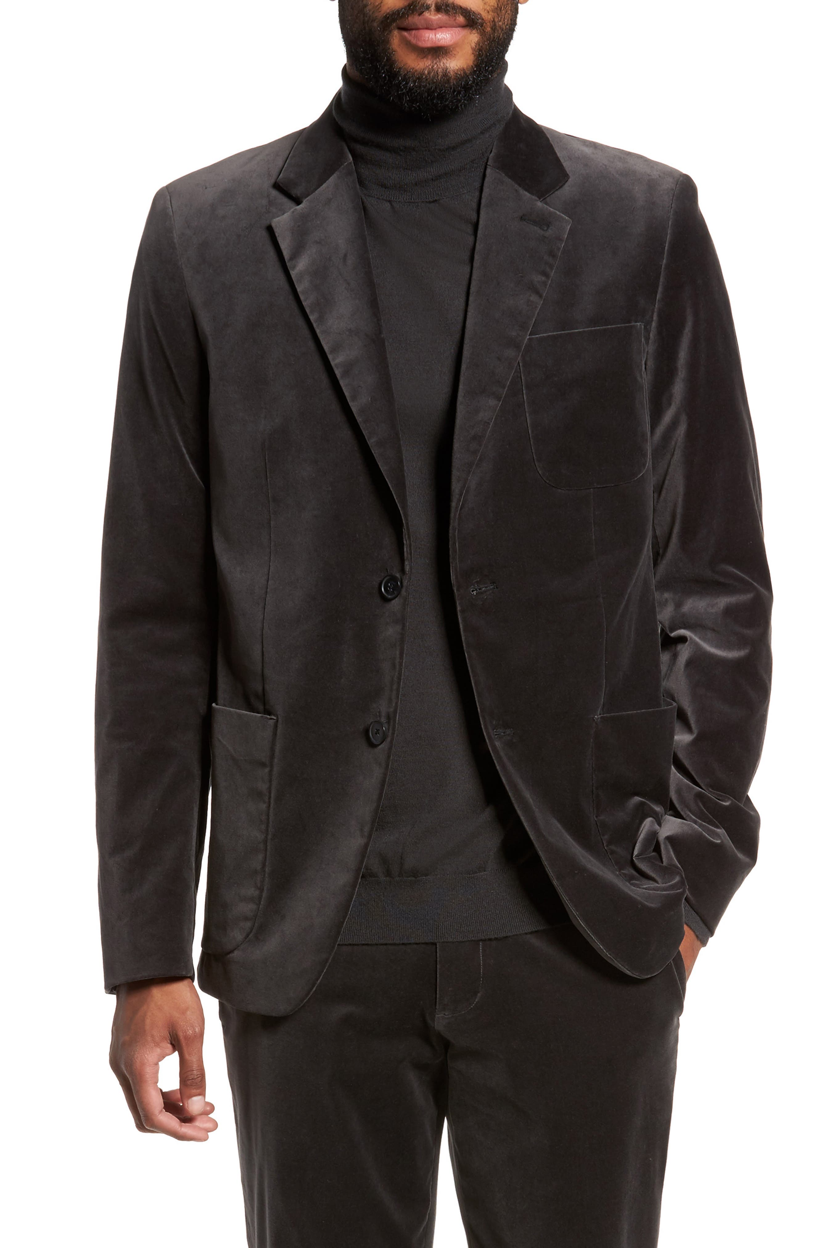 Alternate Image 1 Selected - Vince Velvet Patch Pocket Blazer