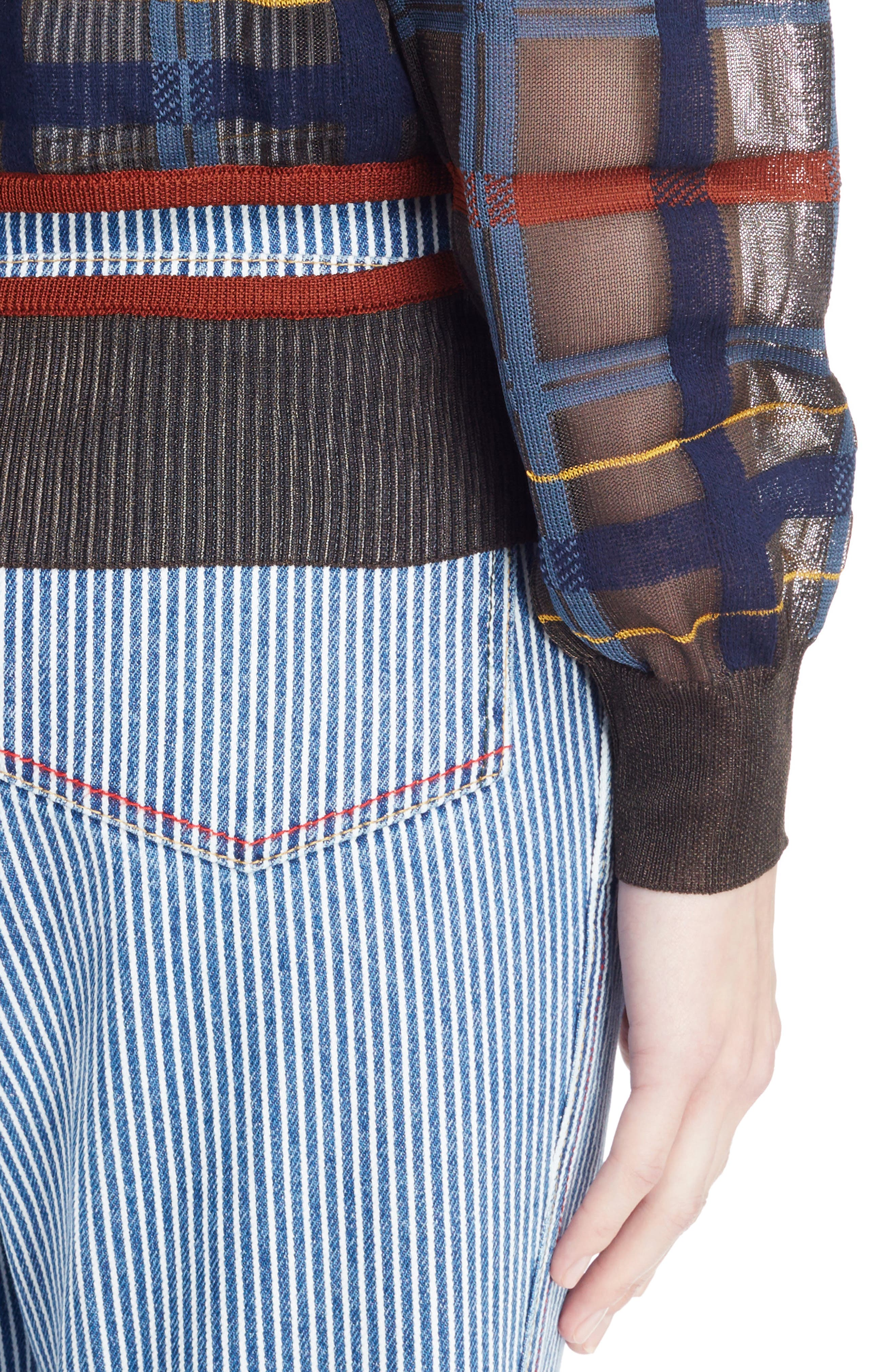 Alternate Image 4  - Toga Check Knit Sweater