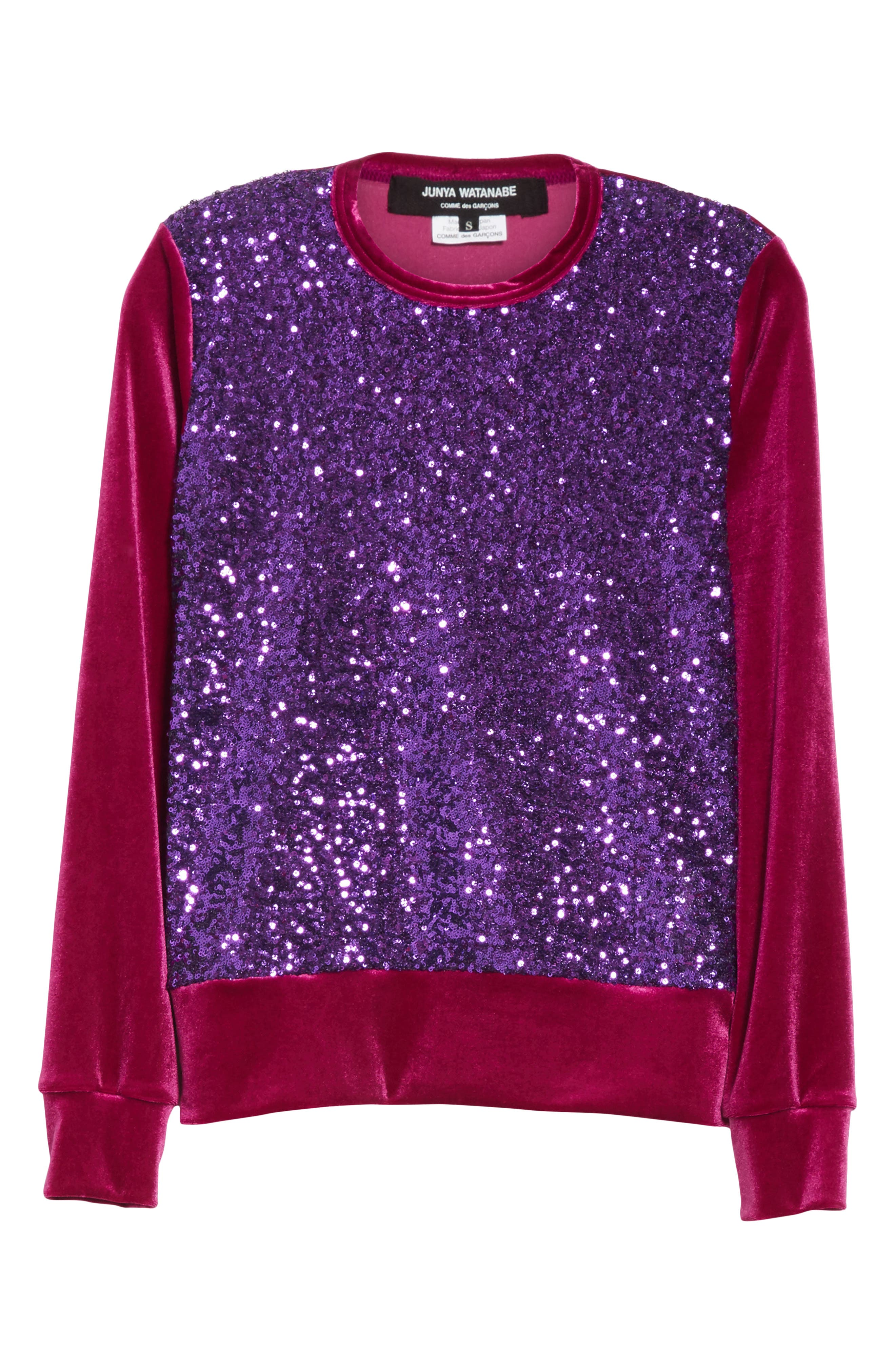 Alternate Image 6  - Junya Watanabe Sequin Velour Top