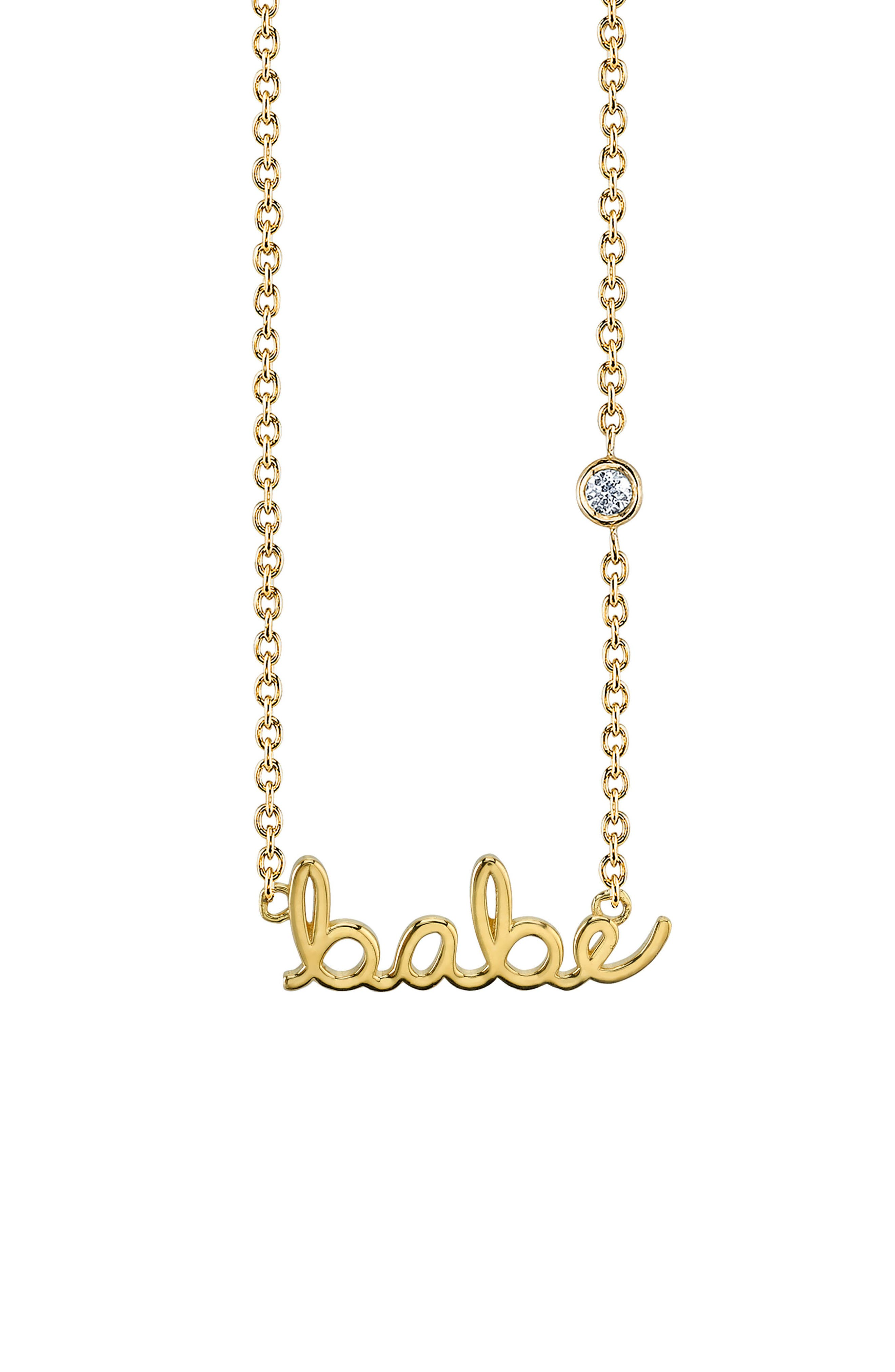 Shy by SE Babe Diamond Pendant Necklace