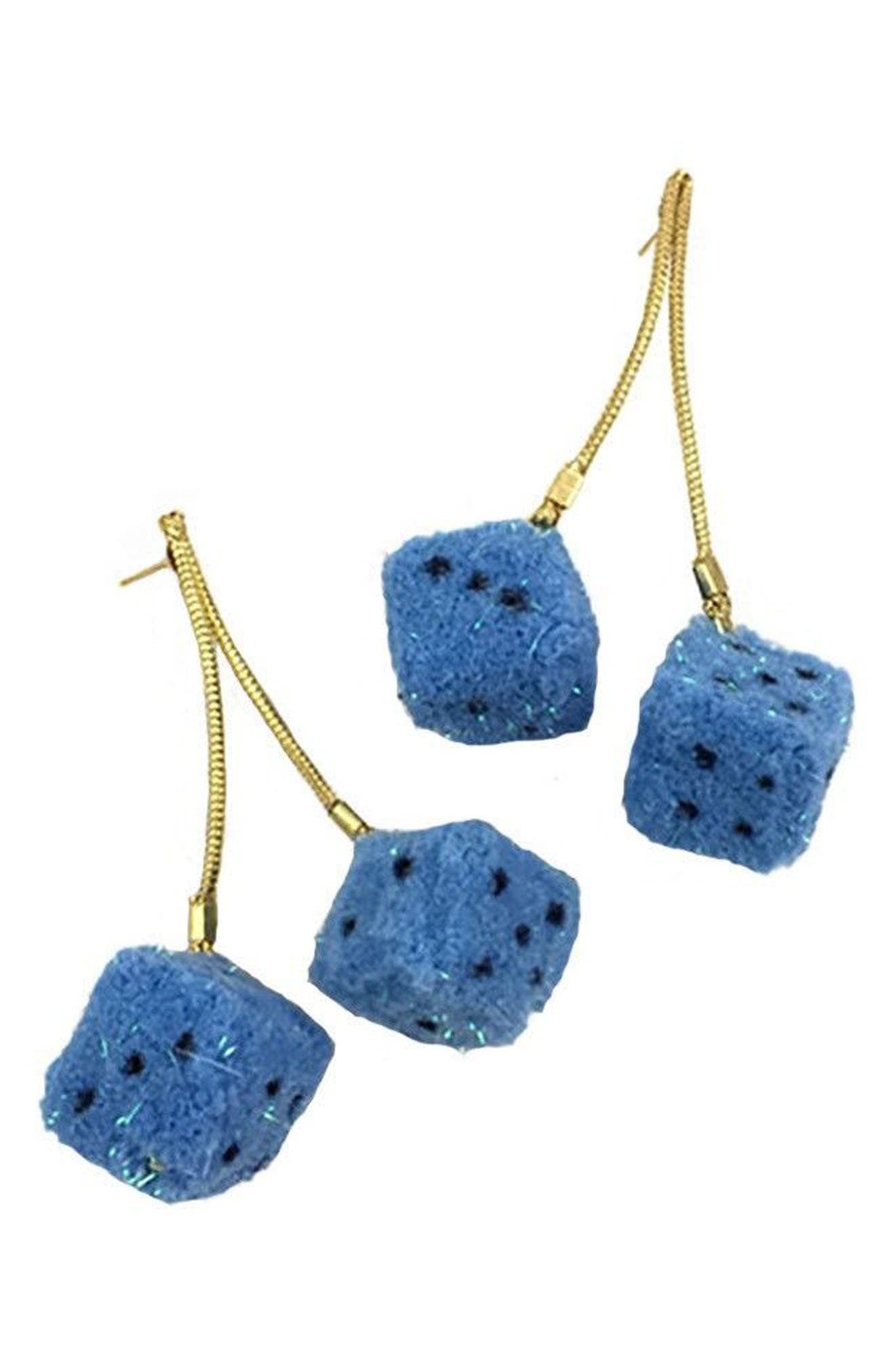 Paradice Earrings,                         Main,                         color, Blue