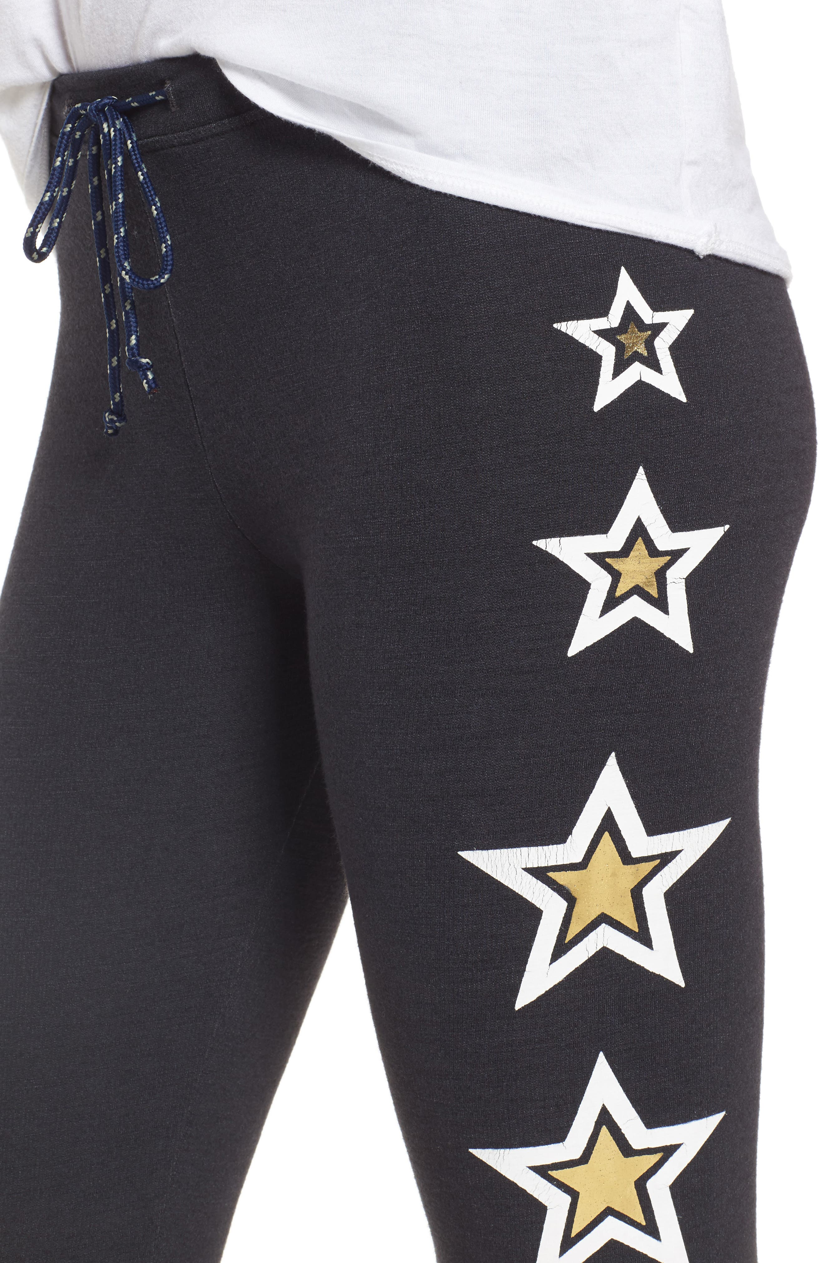 Alternate Image 4  - Sundry Star Print Skinny Pants
