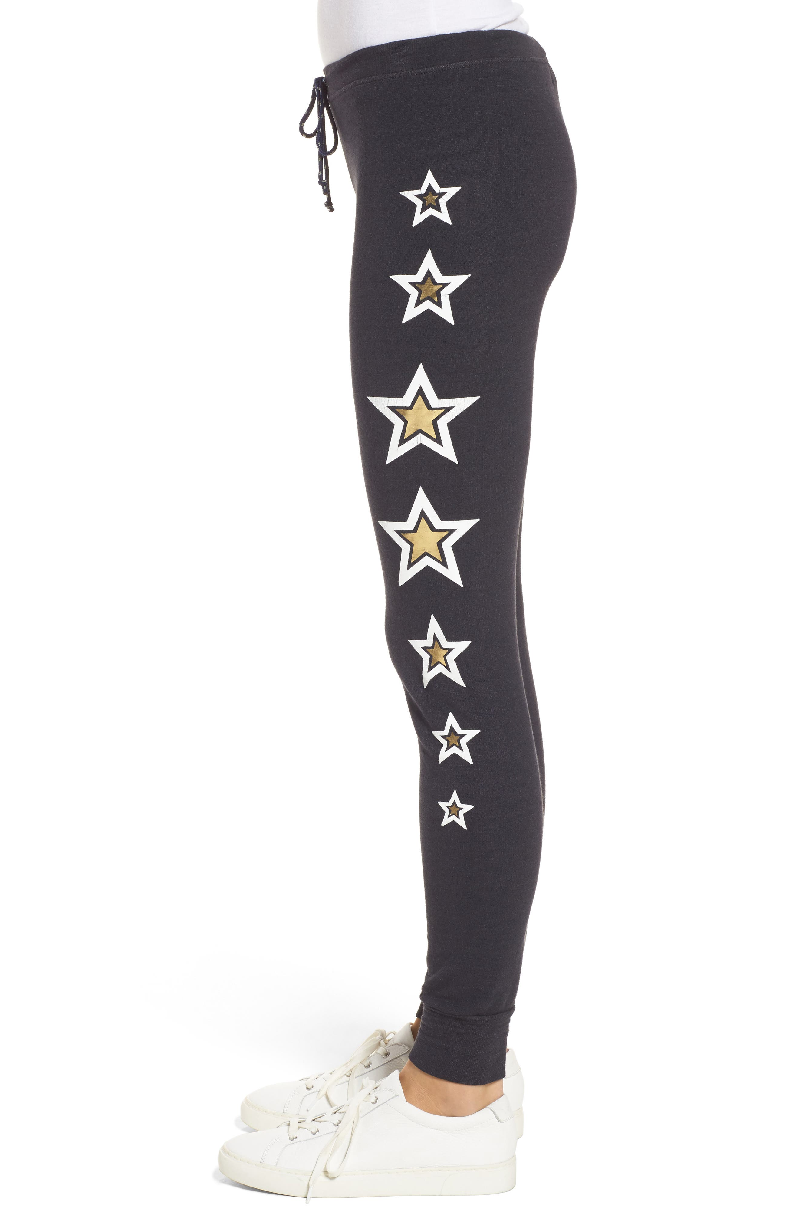 Alternate Image 3  - Sundry Star Print Skinny Pants