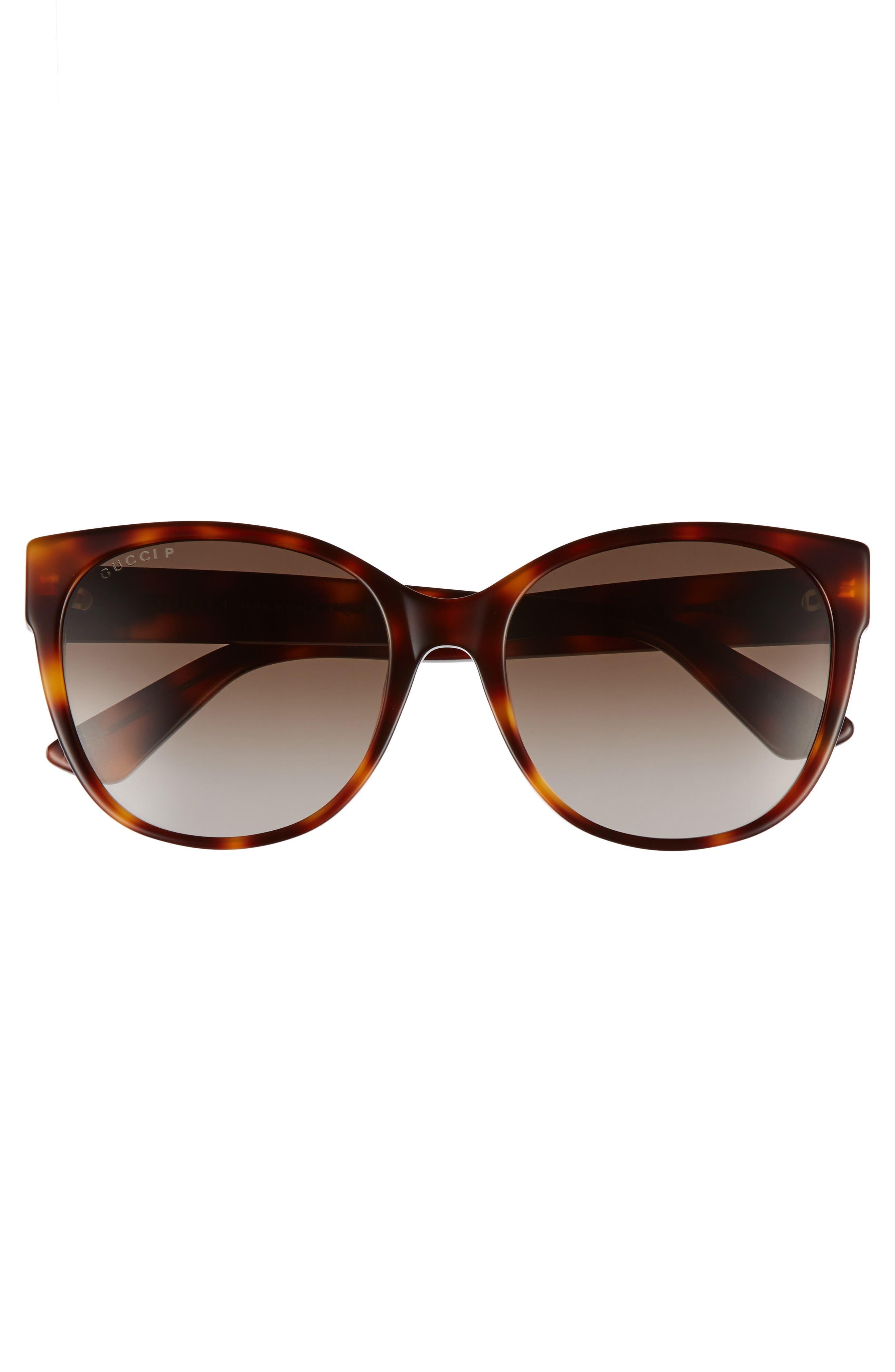 Alternate Image 3  - Gucci 56mm Polarized Cat Eye Sunglasses