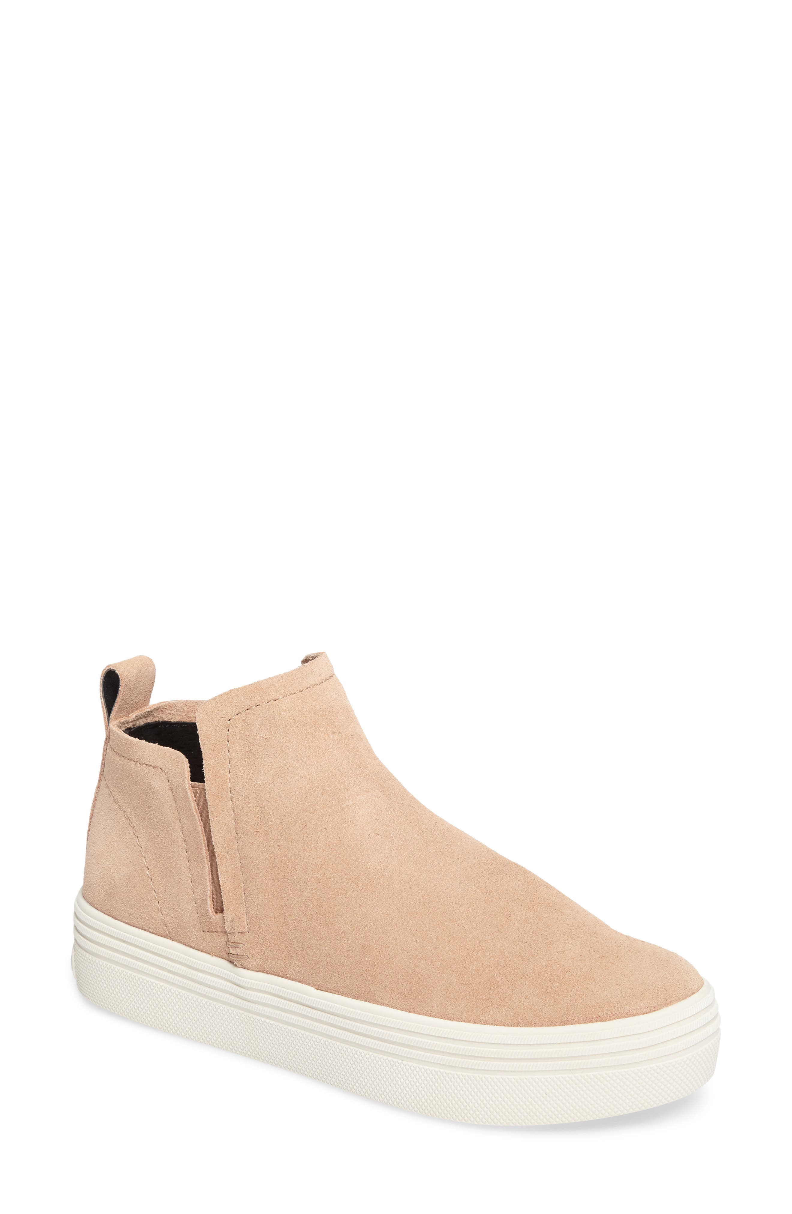 Tate Slip-On Sneaker,                             Main thumbnail 1, color,                             Blush Suede