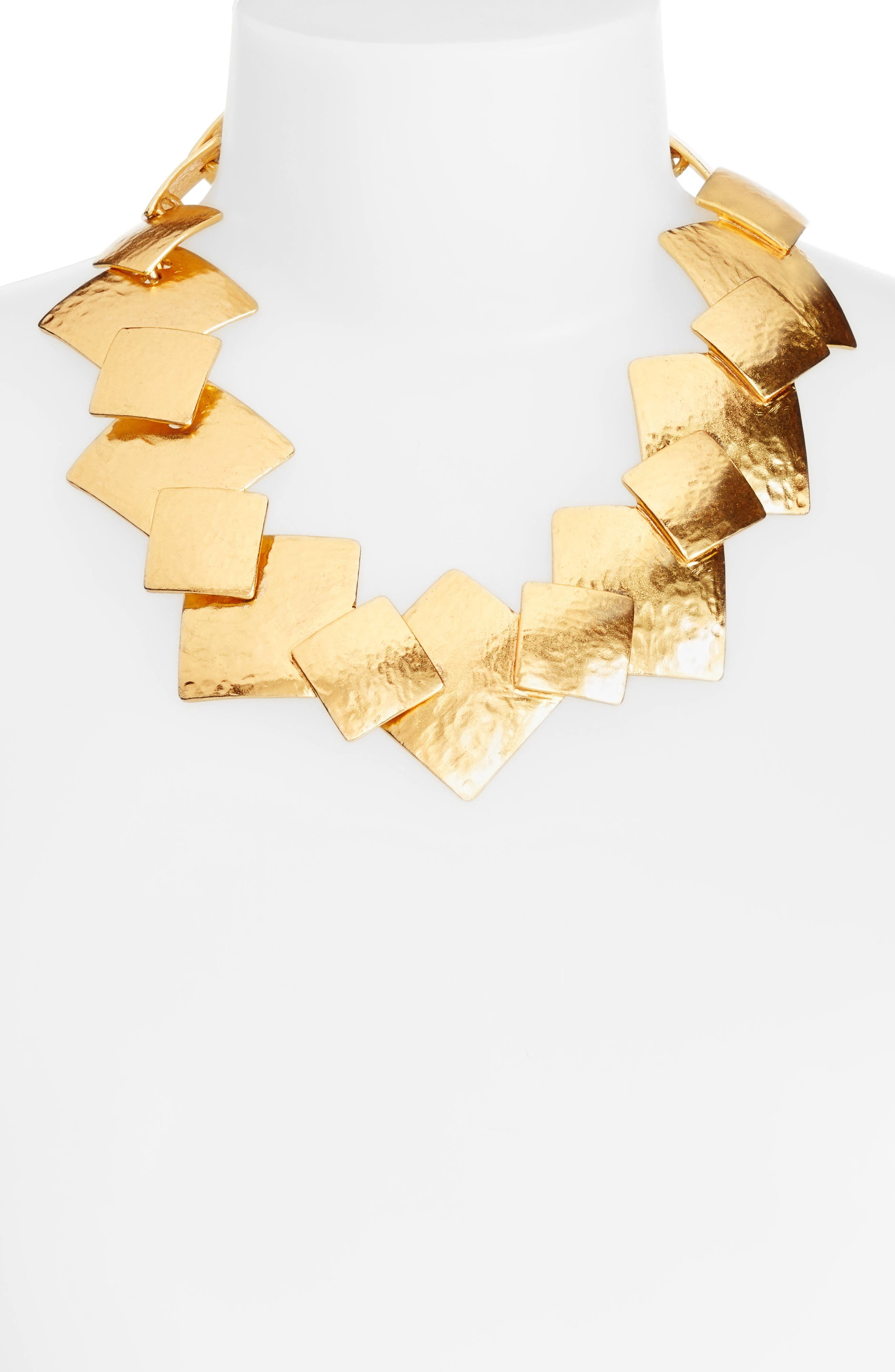 Geo Collage Collar Necklace,                             Alternate thumbnail 2, color,                             Gold