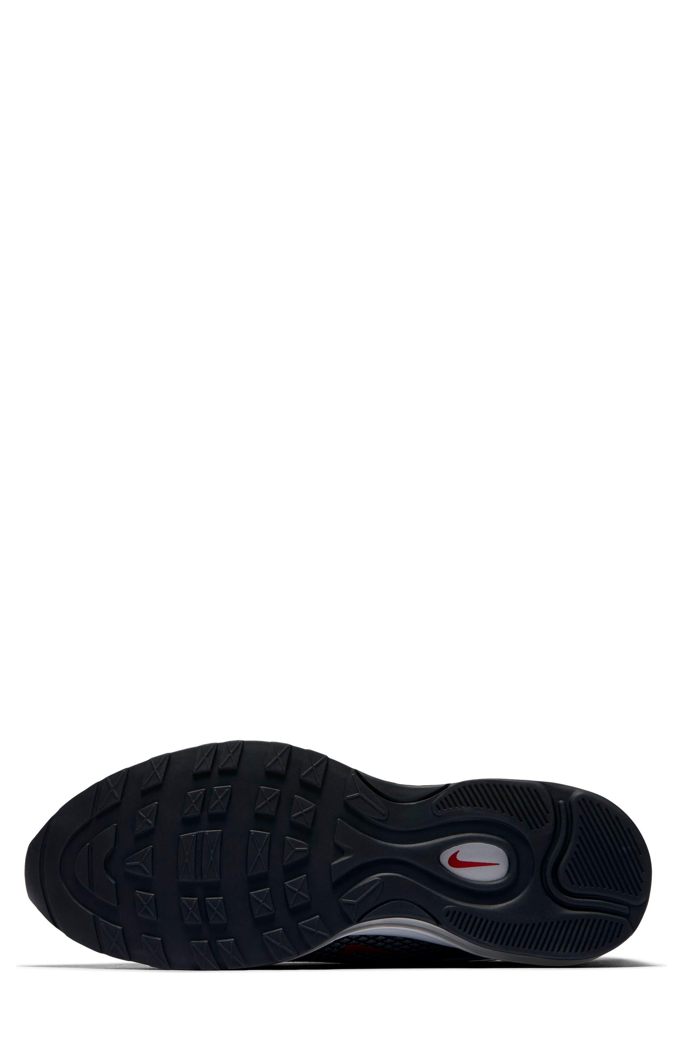 Air Max 97 Ultralight 2017 Sneaker,                             Alternate thumbnail 6, color,                             Metallic Silver/ Varsity Red