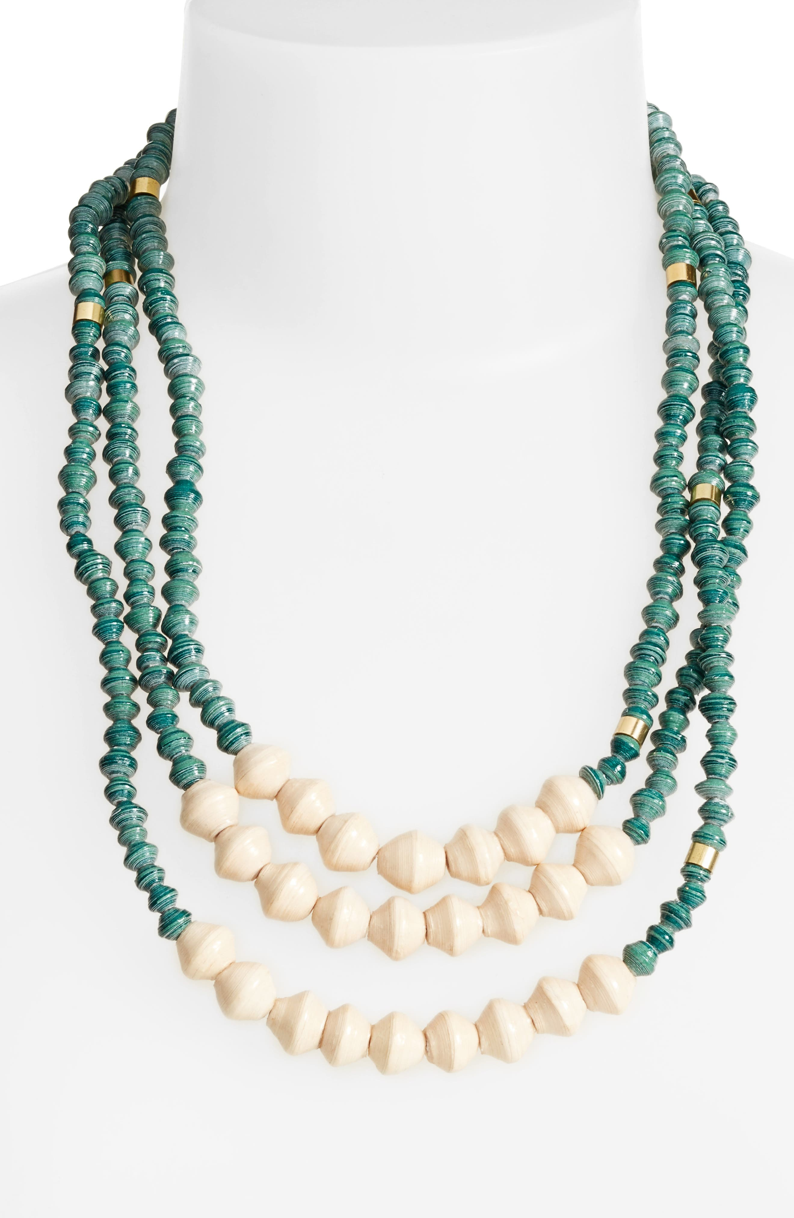 31 Bits Emery Paper Bead Necklace