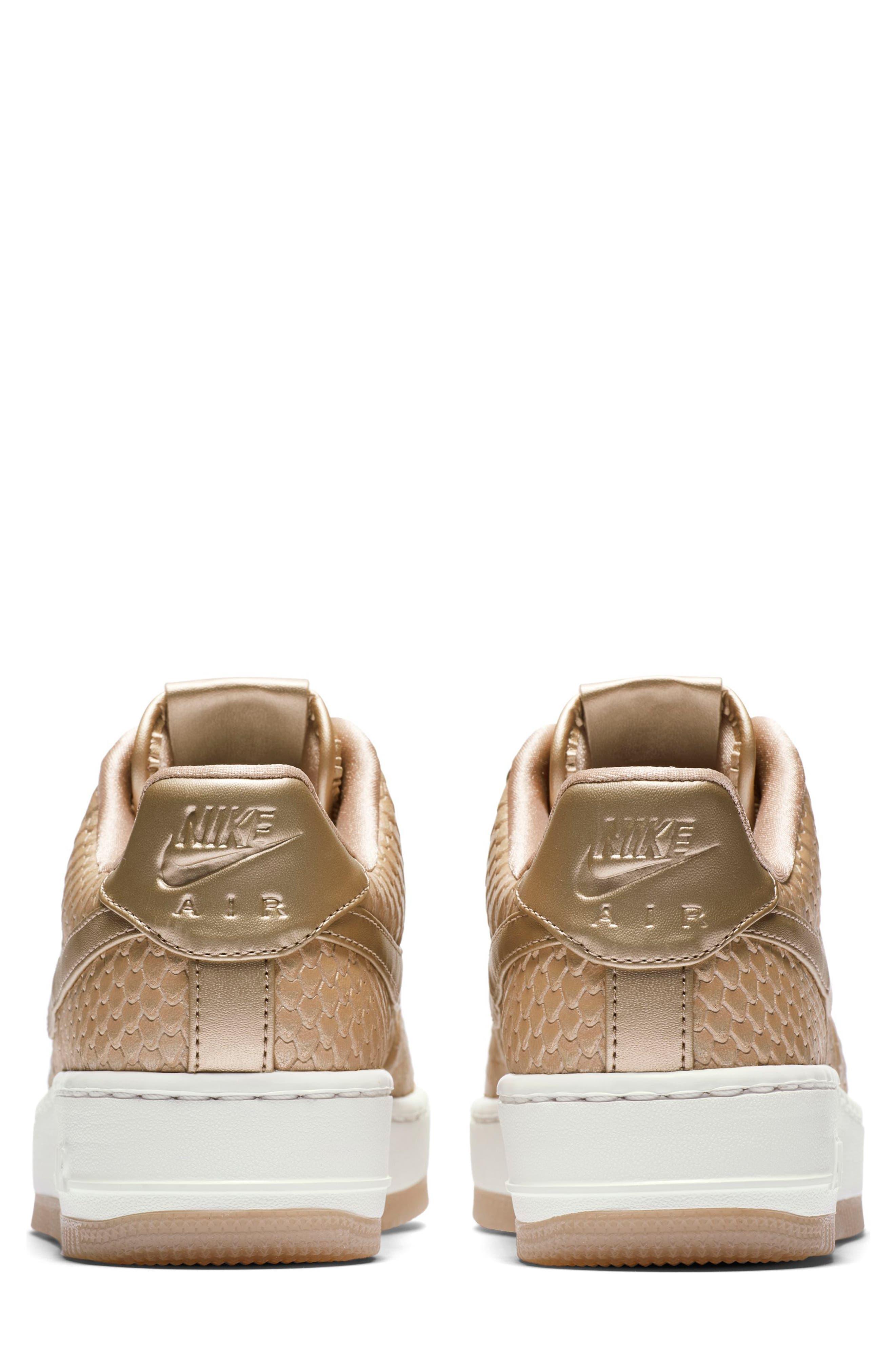 Air Force 1 Upstep Premium Platform Sneaker,                             Alternate thumbnail 4, color,                             Blur/ Blur/ Summit White