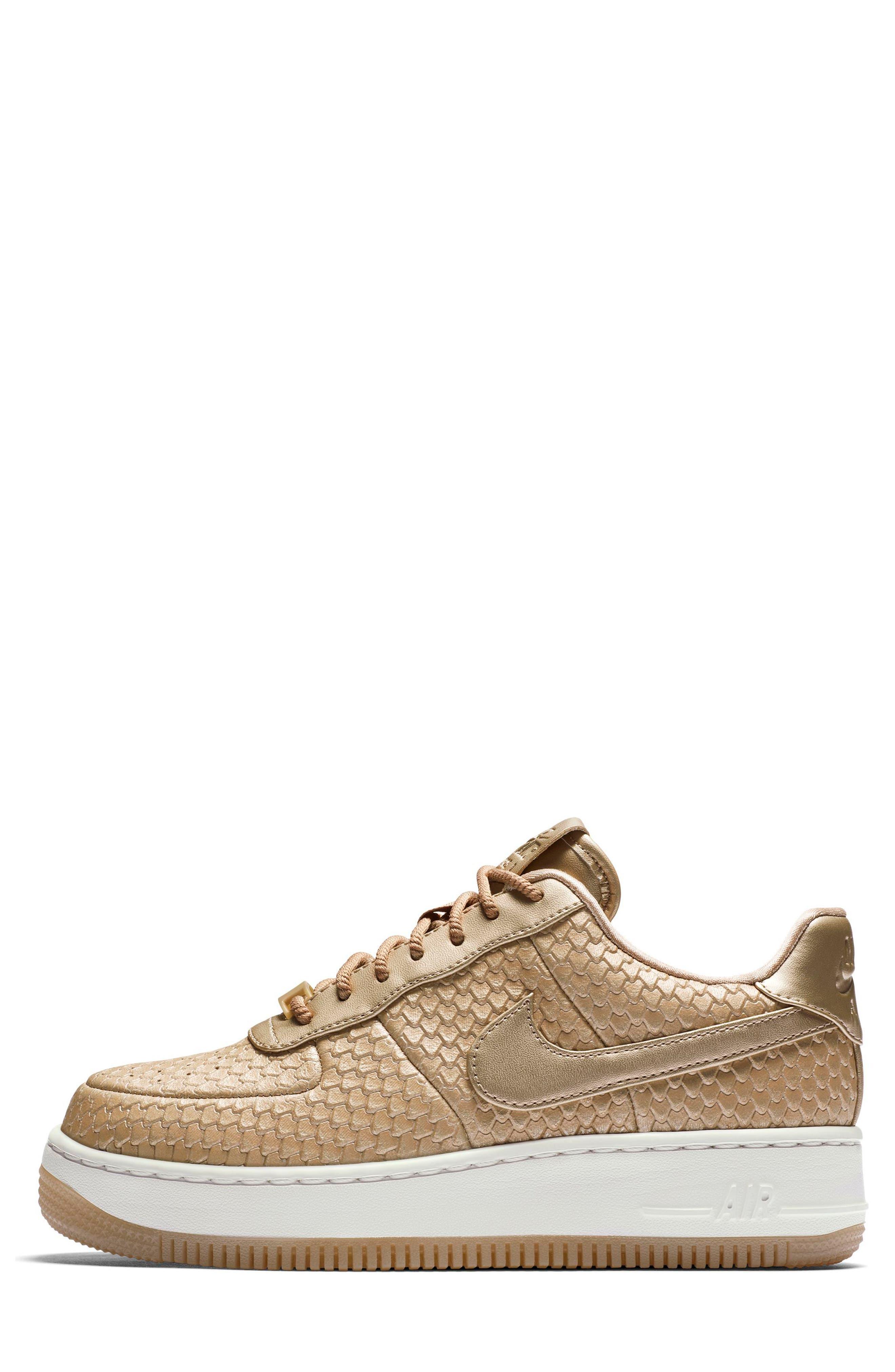 Air Force 1 Upstep Premium Platform Sneaker,                             Alternate thumbnail 6, color,                             Blur/ Blur/ Summit White