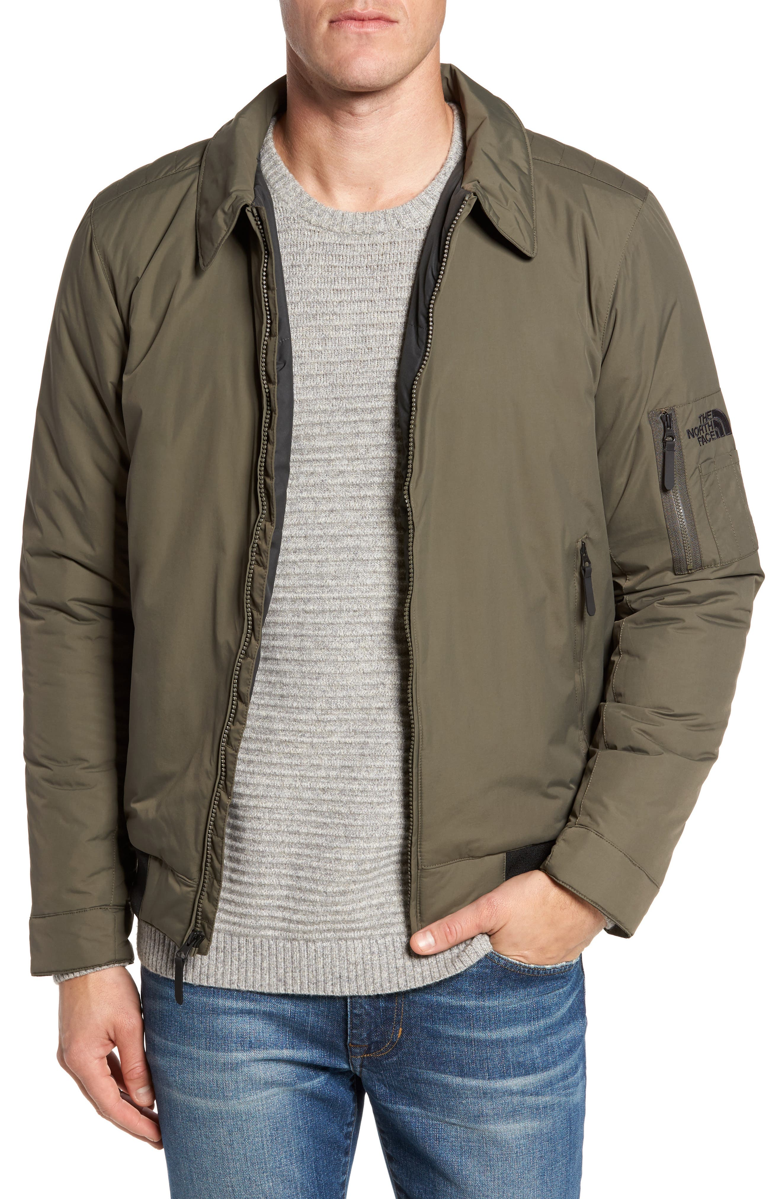 Barstol Aviator Jacket,                         Main,                         color, New Taupe Green