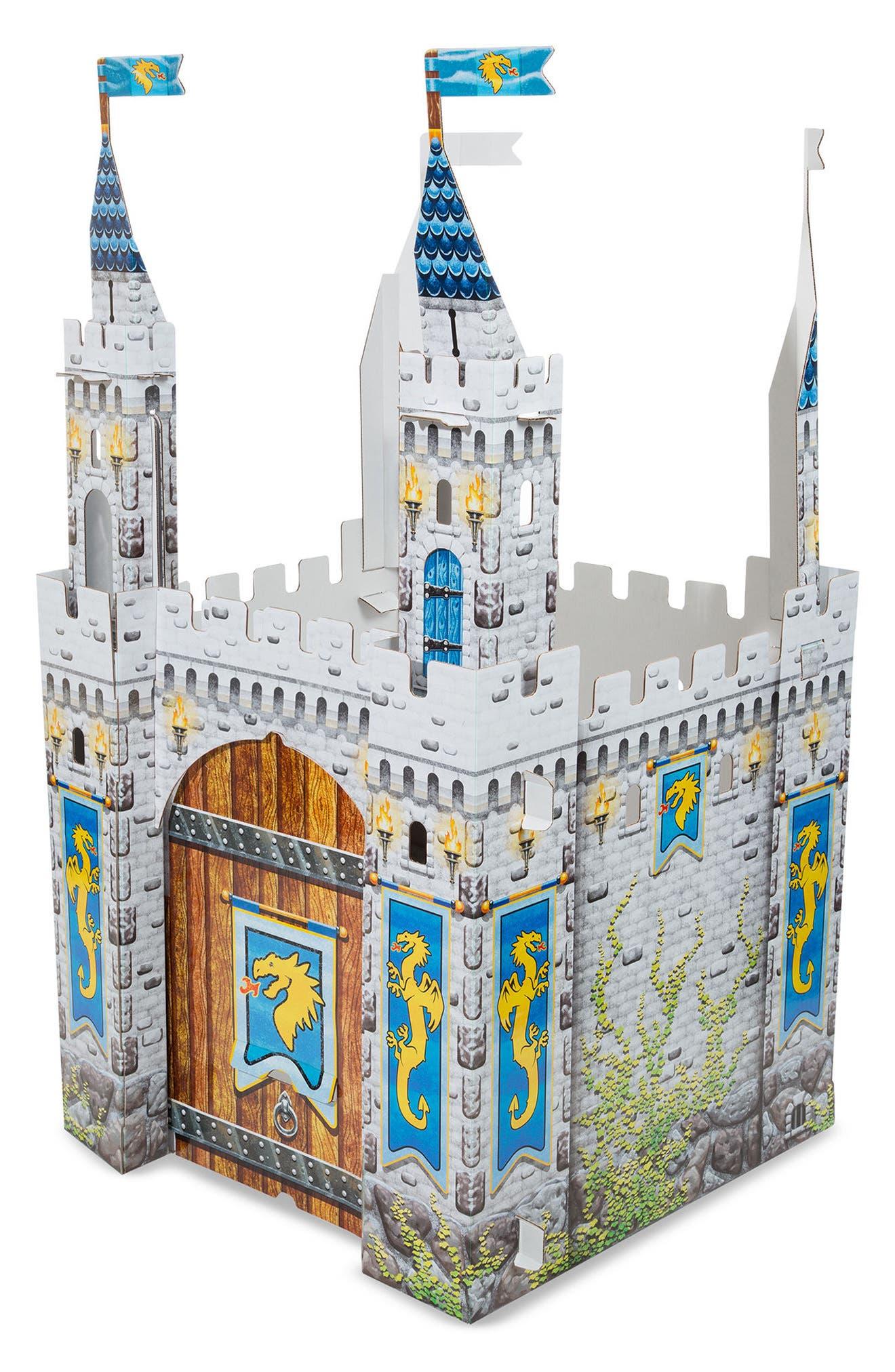 Cardboard Castle Playhouse,                         Main,                         color, Grey