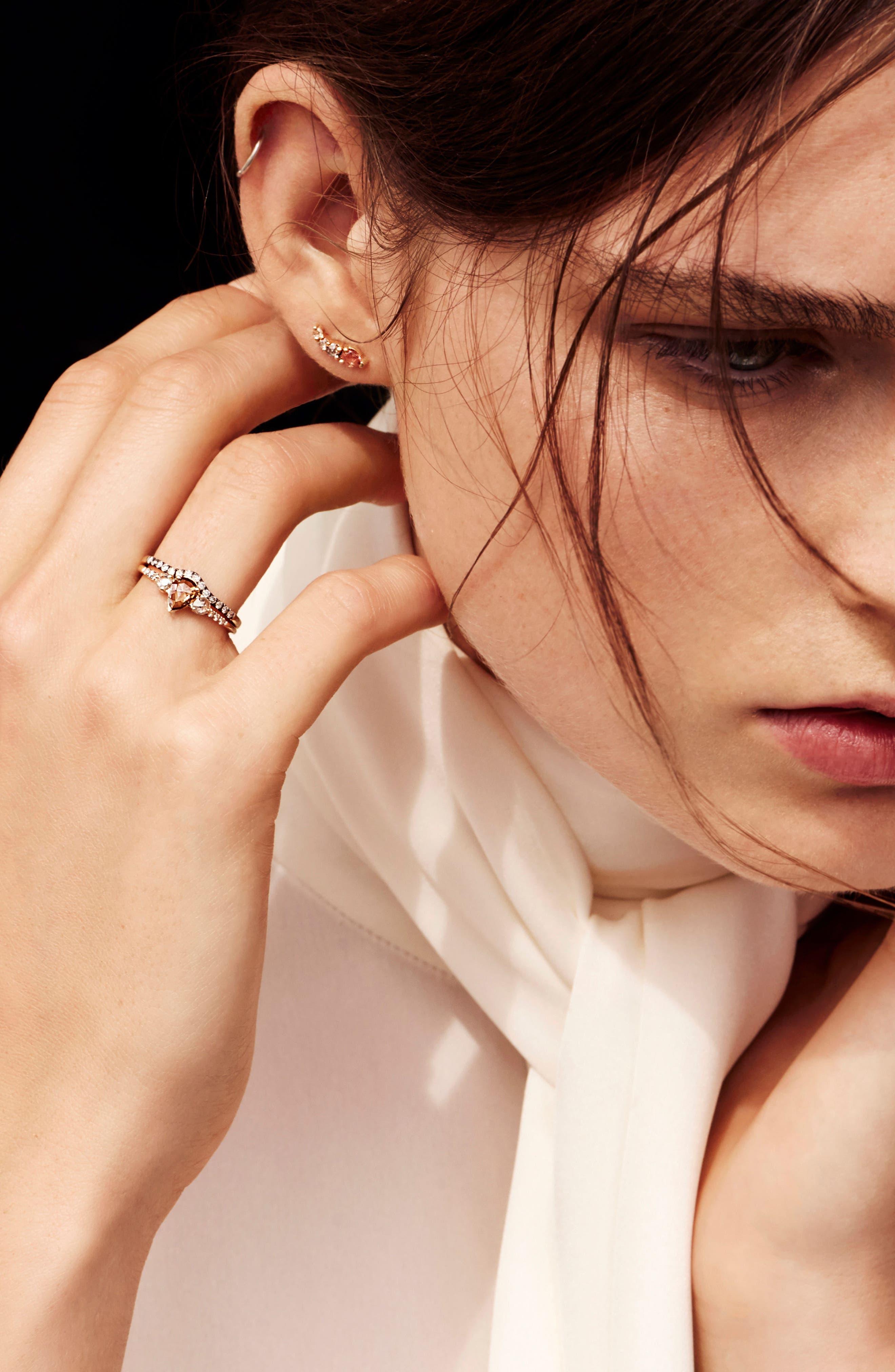 Radiance Sapphire & Diamond Ring,                             Alternate thumbnail 4, color,                             Yellow Gold/ Green Sapphire