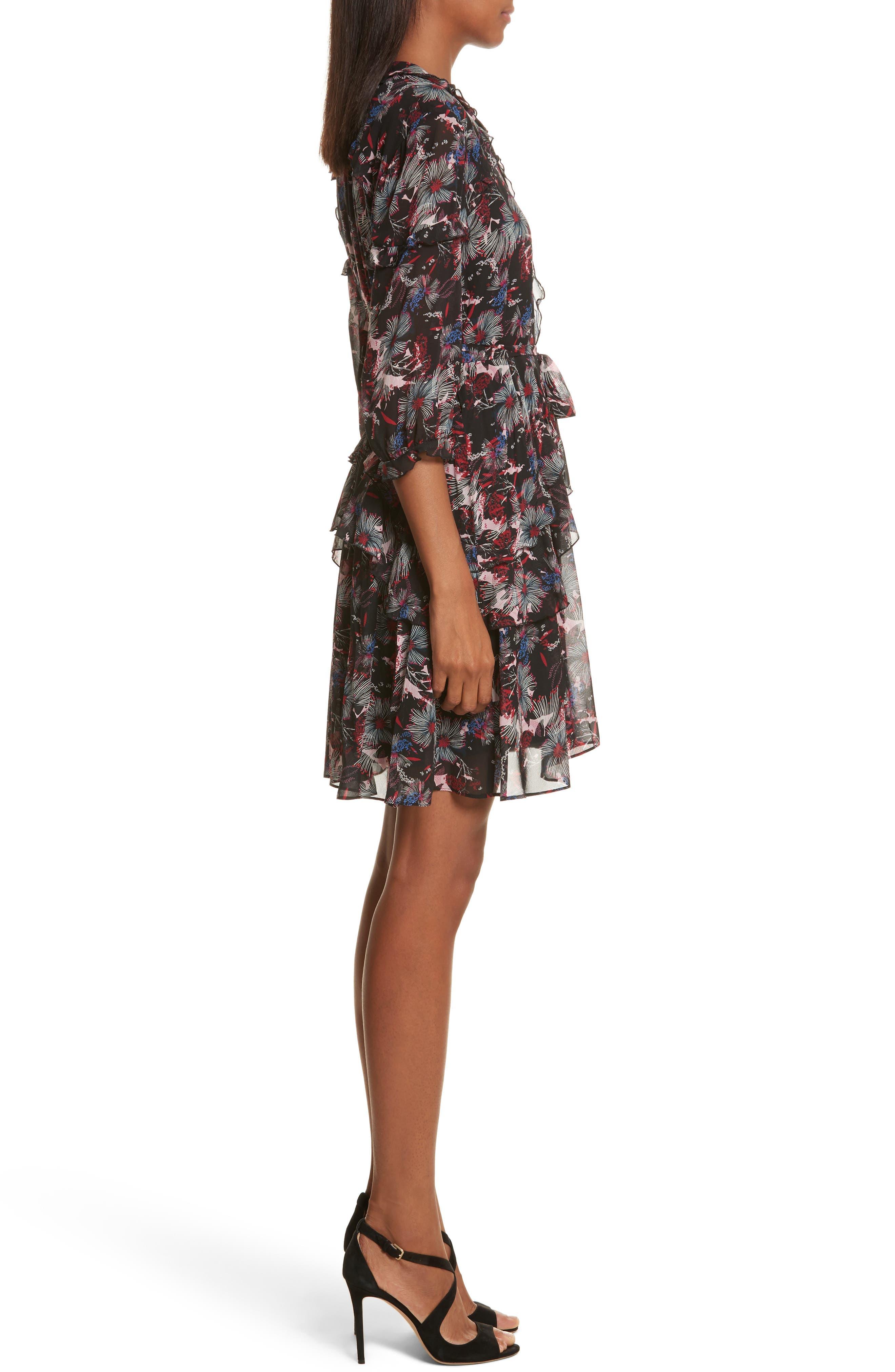 Alternate Image 3  - SALONI Tilly Ruffle Silk Dress
