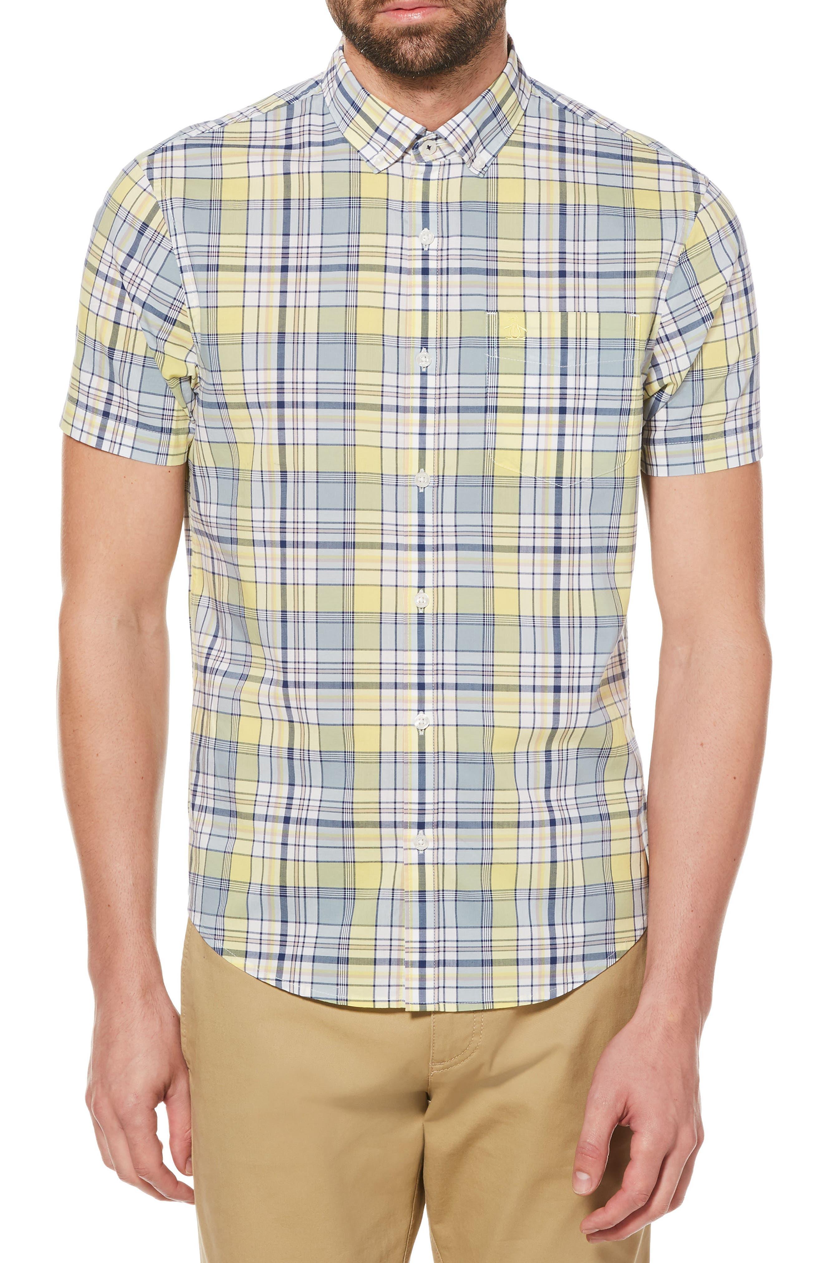 P55 Woven Shirt,                             Main thumbnail 1, color,                             Limelight