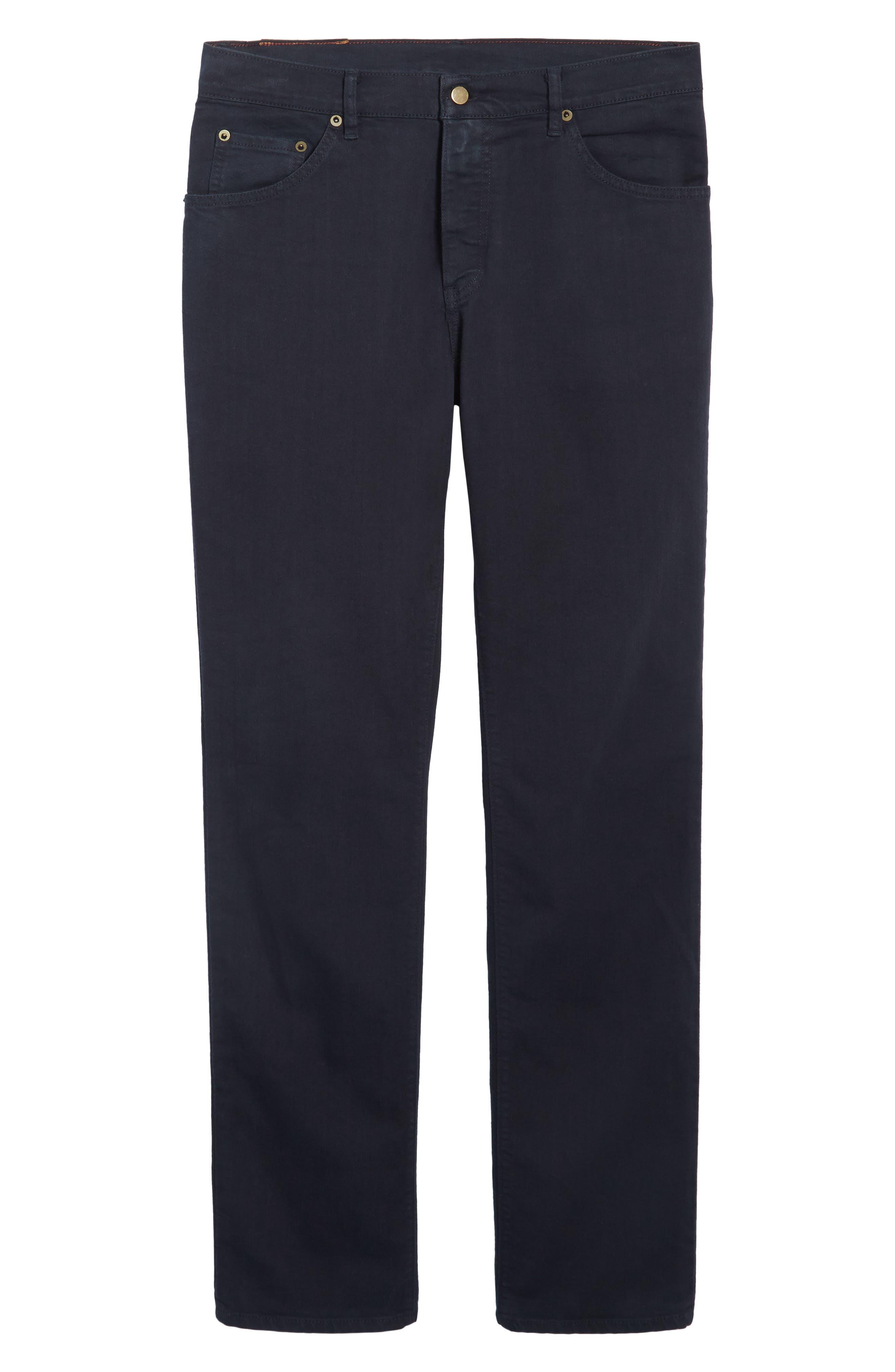 Alternate Image 6  - Raleigh Denim Alexander Straight Leg Jeans (Stretch Dark Fathom)