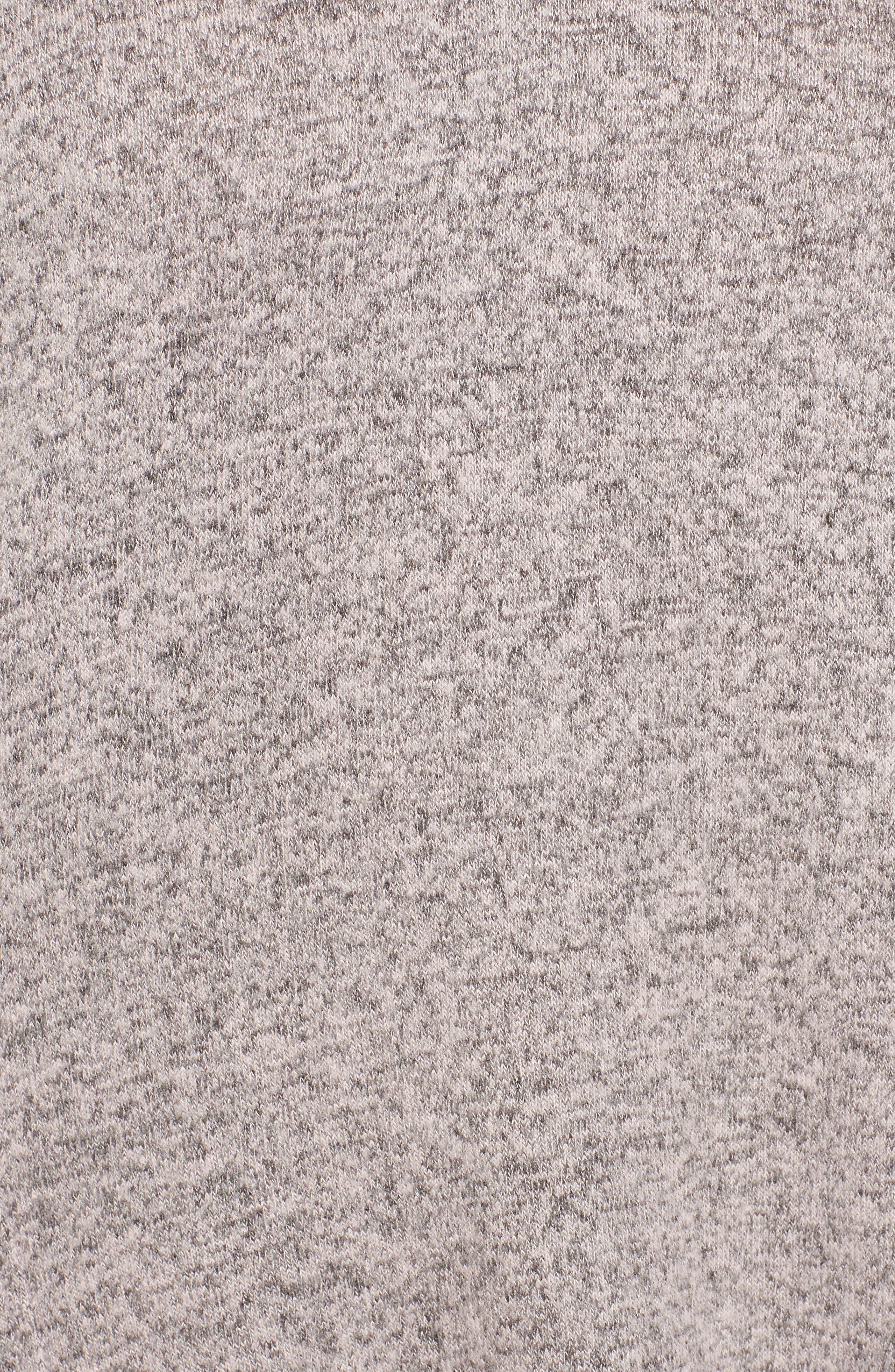 Alternate Image 5  - Caslon® High/Low Hoodie (Regular & Petite)