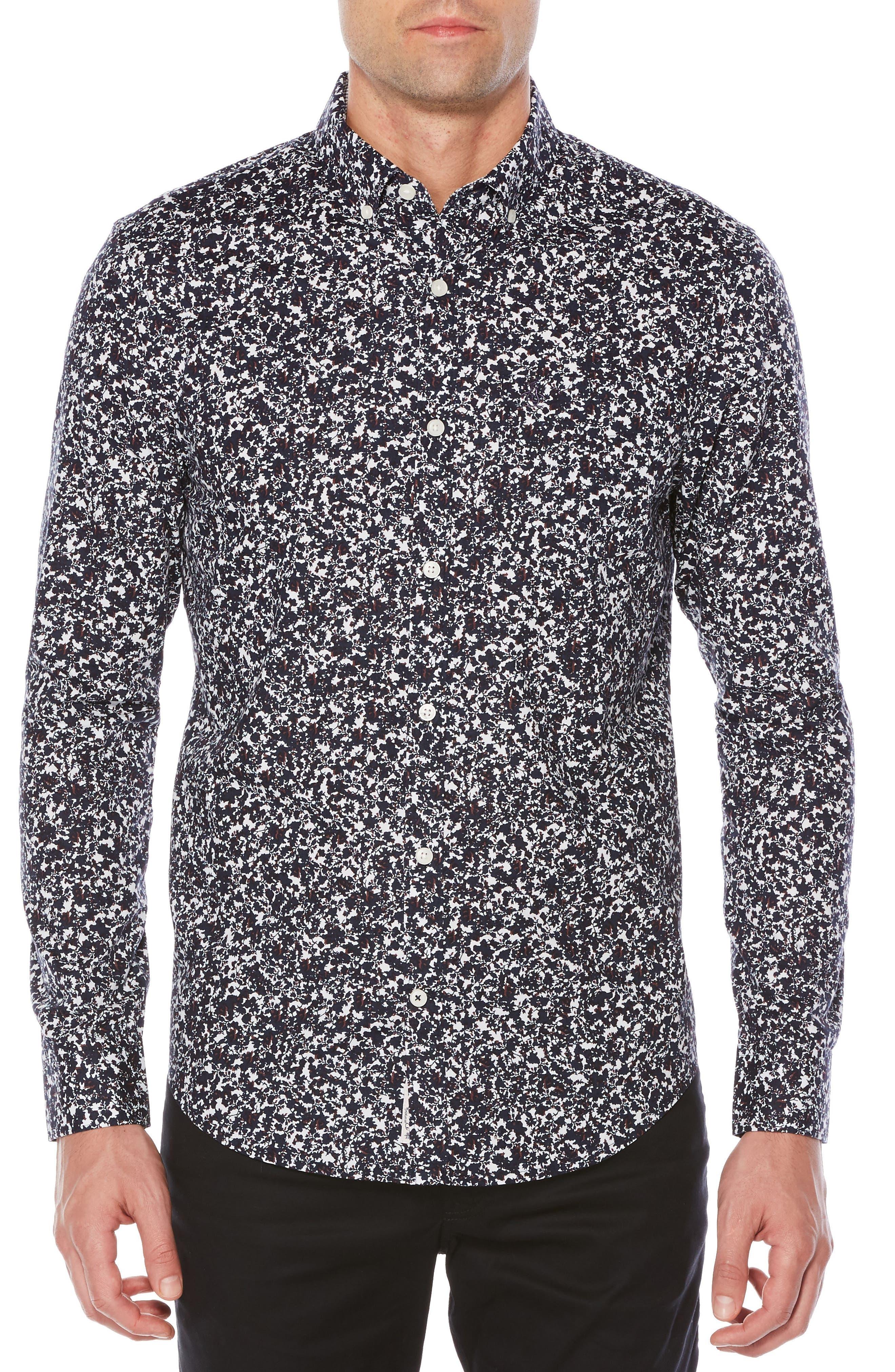 Original Penguin Heritage Slim Fit Floral Poplin Shirt