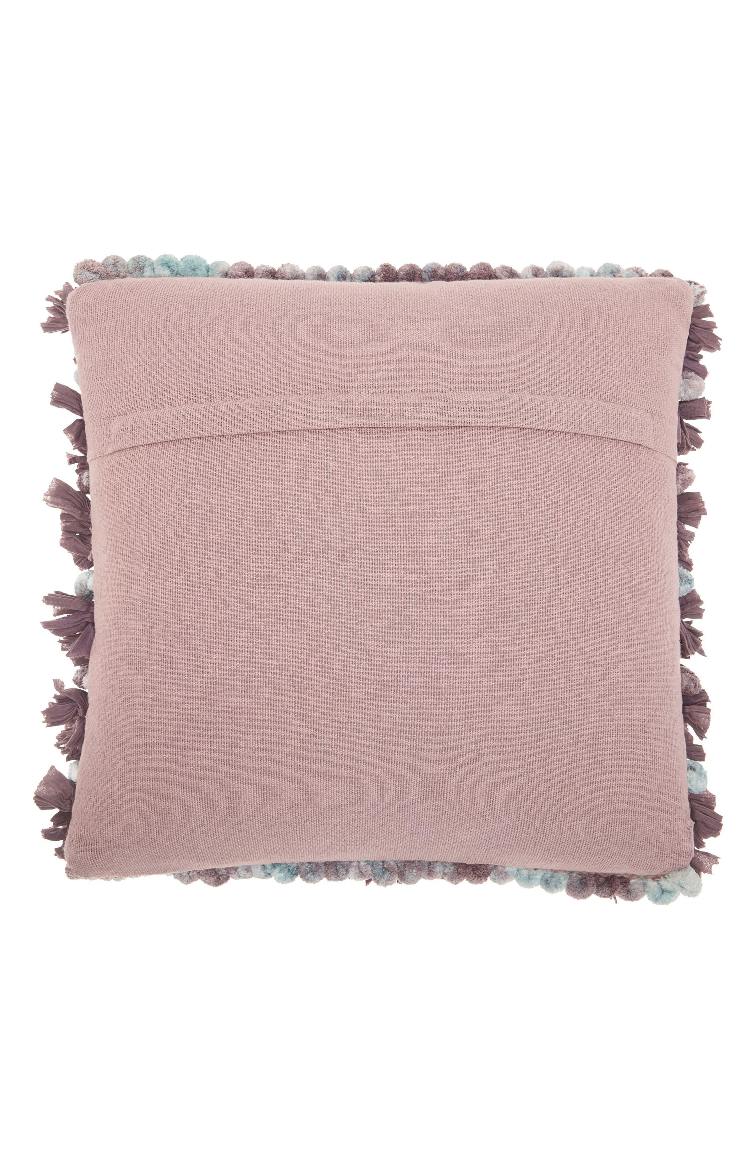 Paper Loop & Pompom Shag Pillow,                             Alternate thumbnail 2, color,                             Lavender