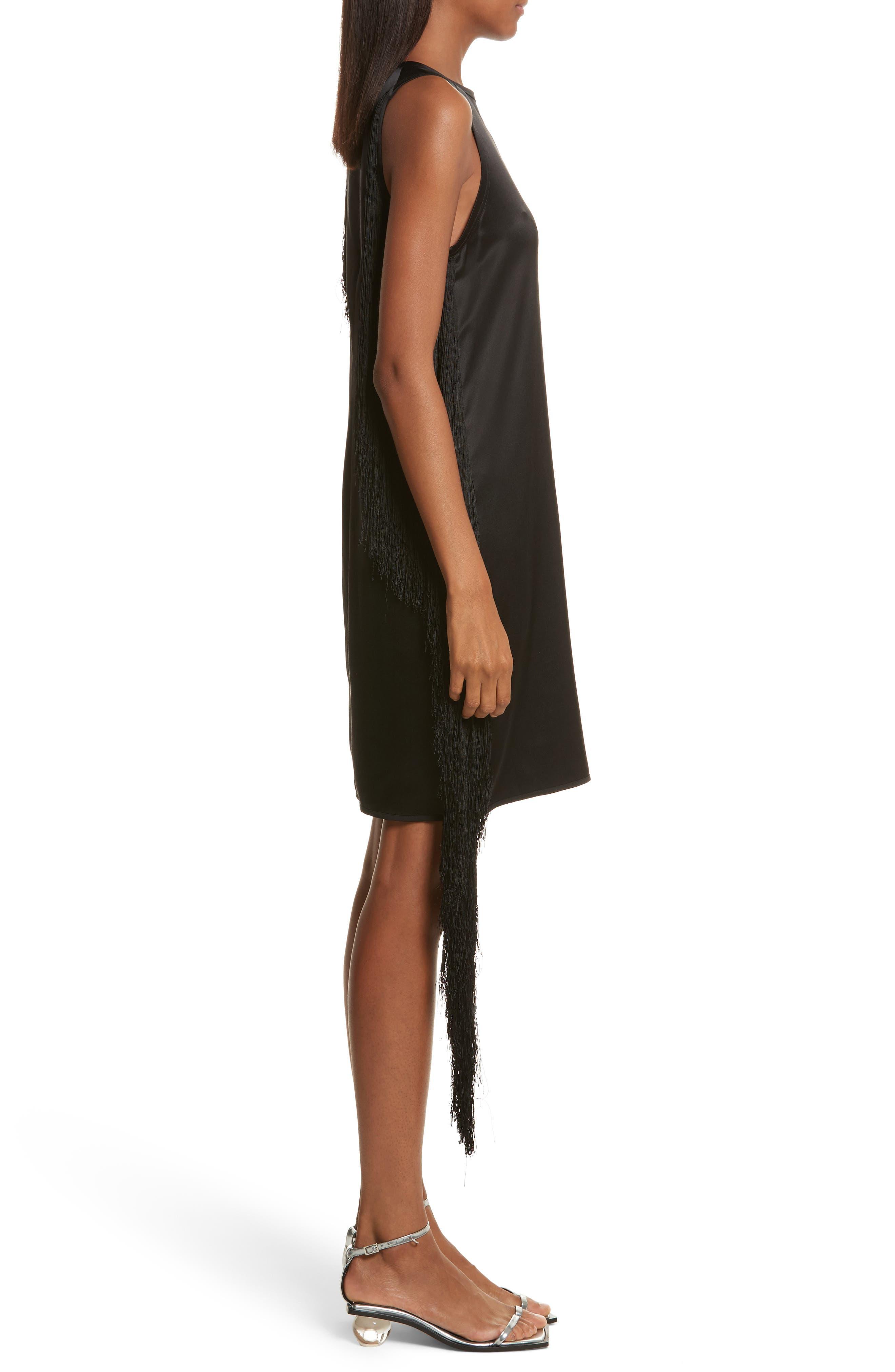 Alternate Image 3  - Helmut Lang Fringe Silk Minidress