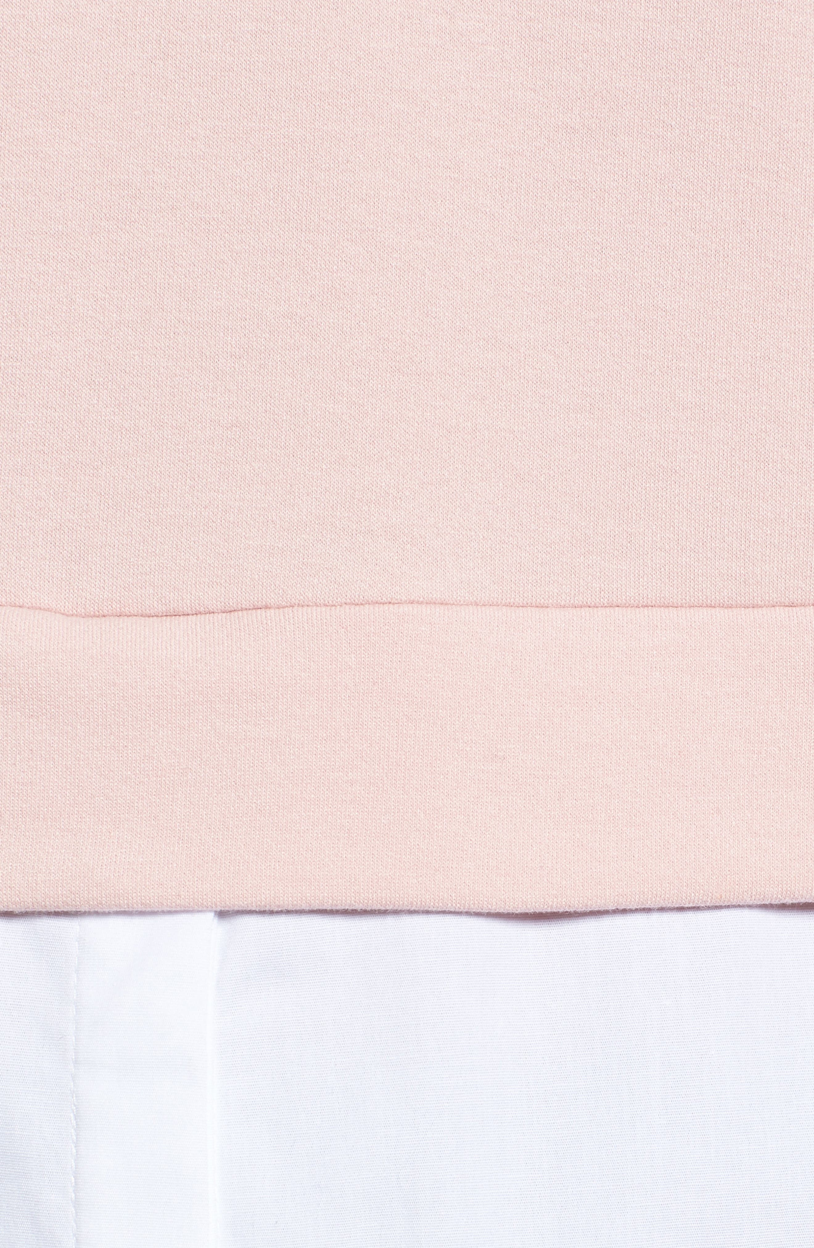 Layered Look Hoodie,                             Alternate thumbnail 5, color,                             Dusty Pink