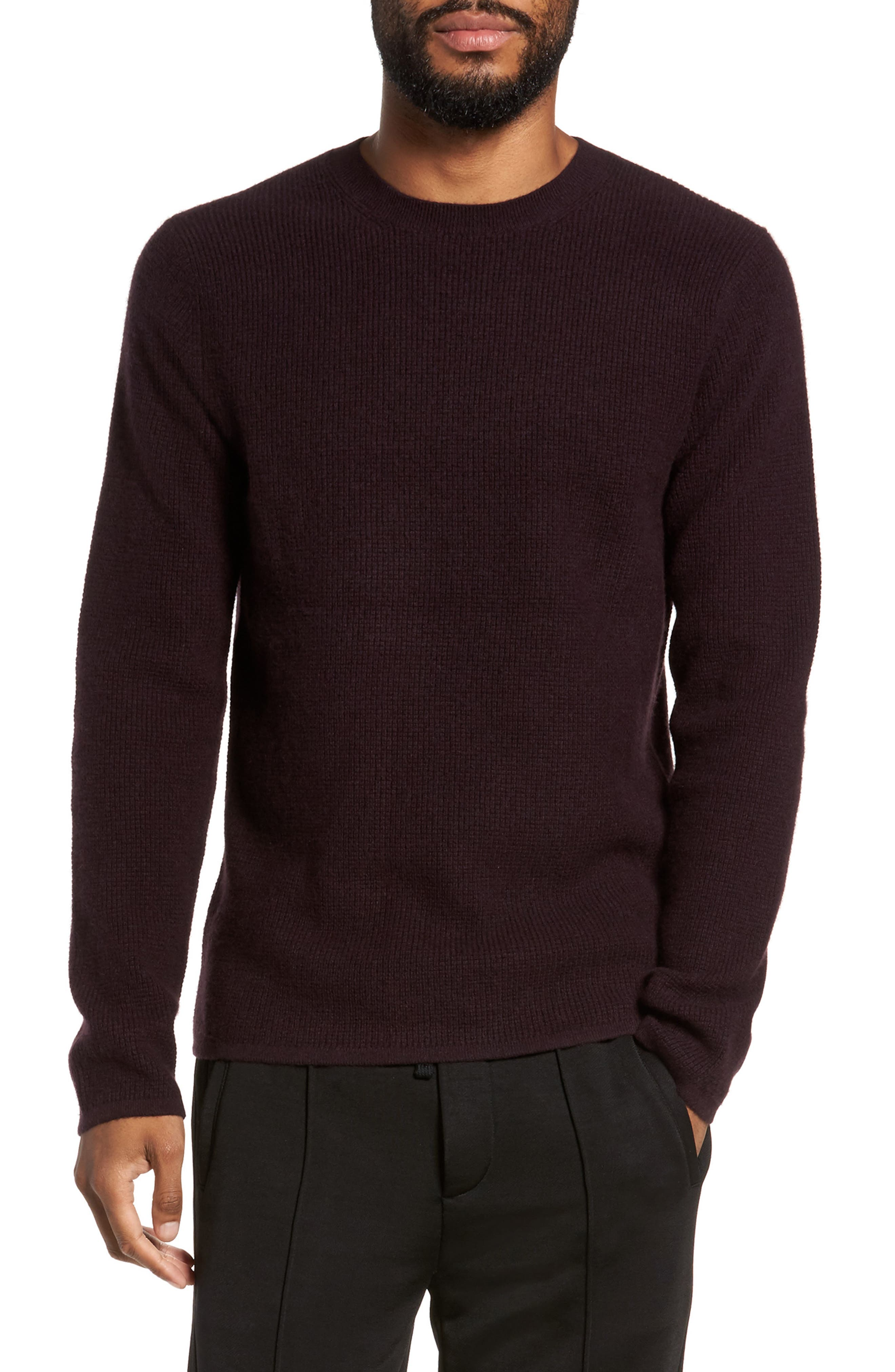 Alternate Image 1 Selected - Vince Thermal Wool & Cashmere Sweater