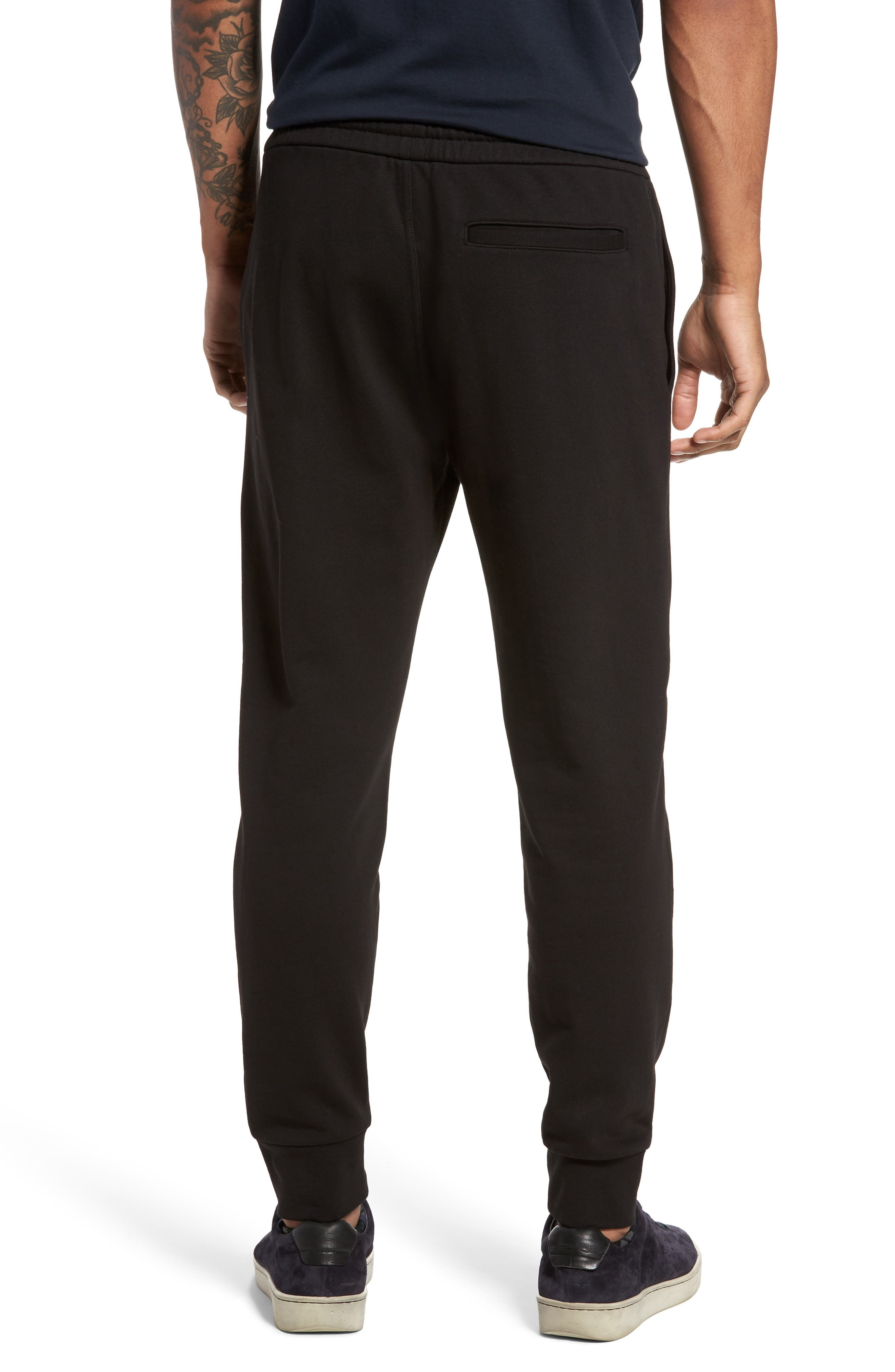 Cotton Sweatpants,                             Alternate thumbnail 2, color,                             Black