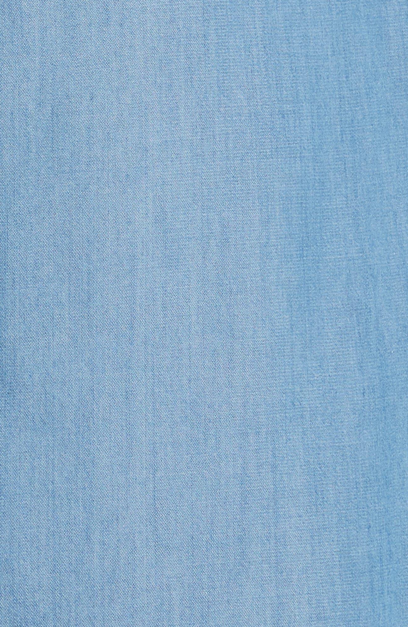 Cotton & Cashmere Chambray Shirtdress,                             Alternate thumbnail 6, color,                             Denim Blue