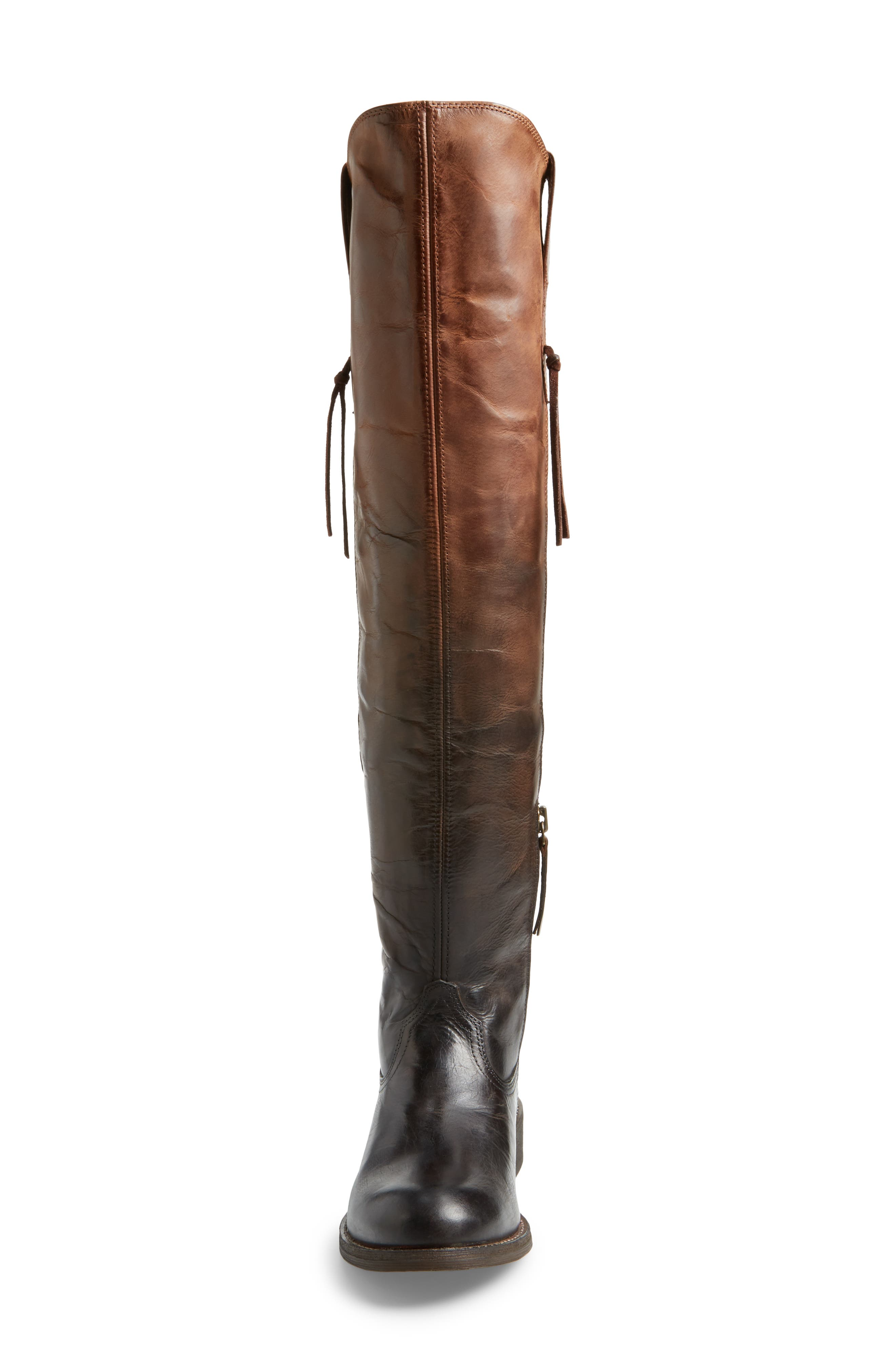Farrah Over the Knee Boot,                             Alternate thumbnail 4, color,                             Sassy Chocolate Leather