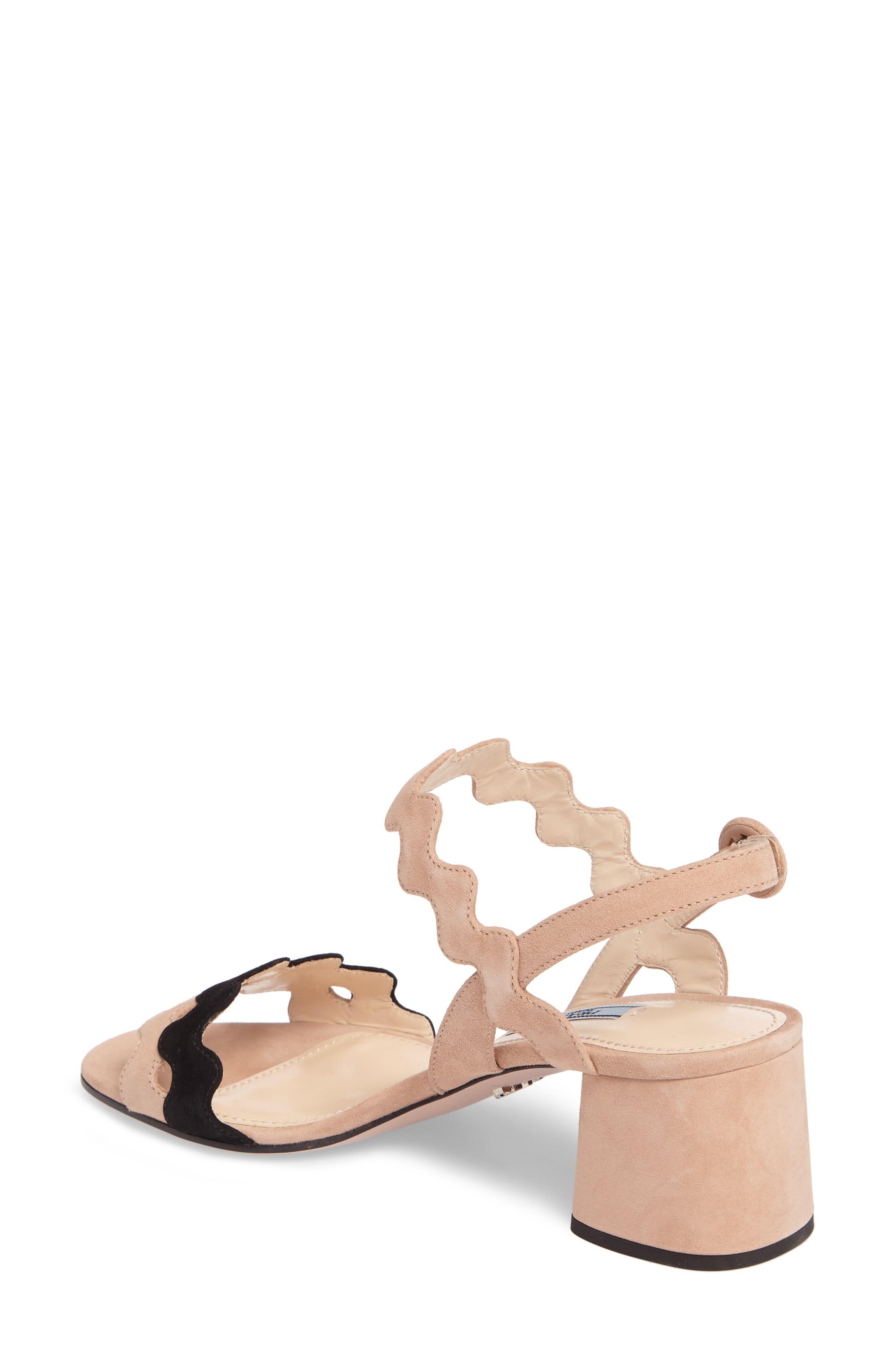 Double Strap Wave Sandal,                             Alternate thumbnail 2, color,                             Nude
