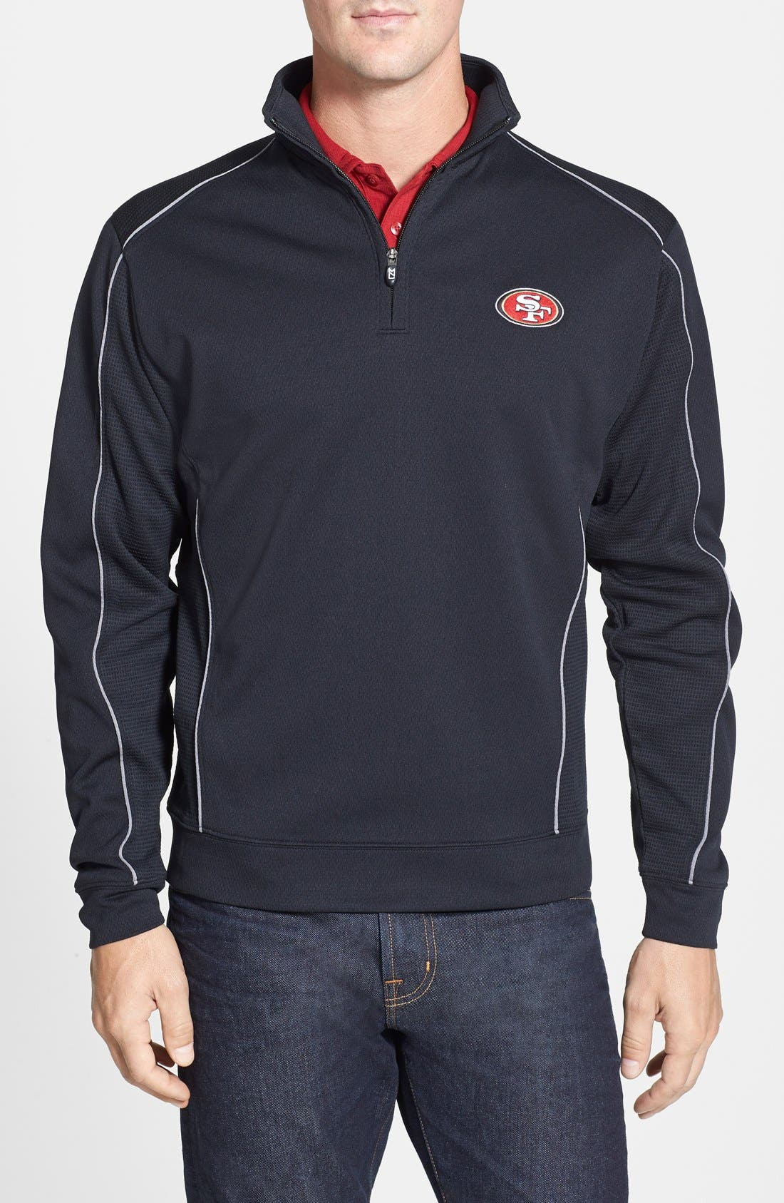 Cutter & Buck 'San Francisco 49ers - Edge' DryTec Moisture Wicking Half Zip Pullover (Big & Tall)