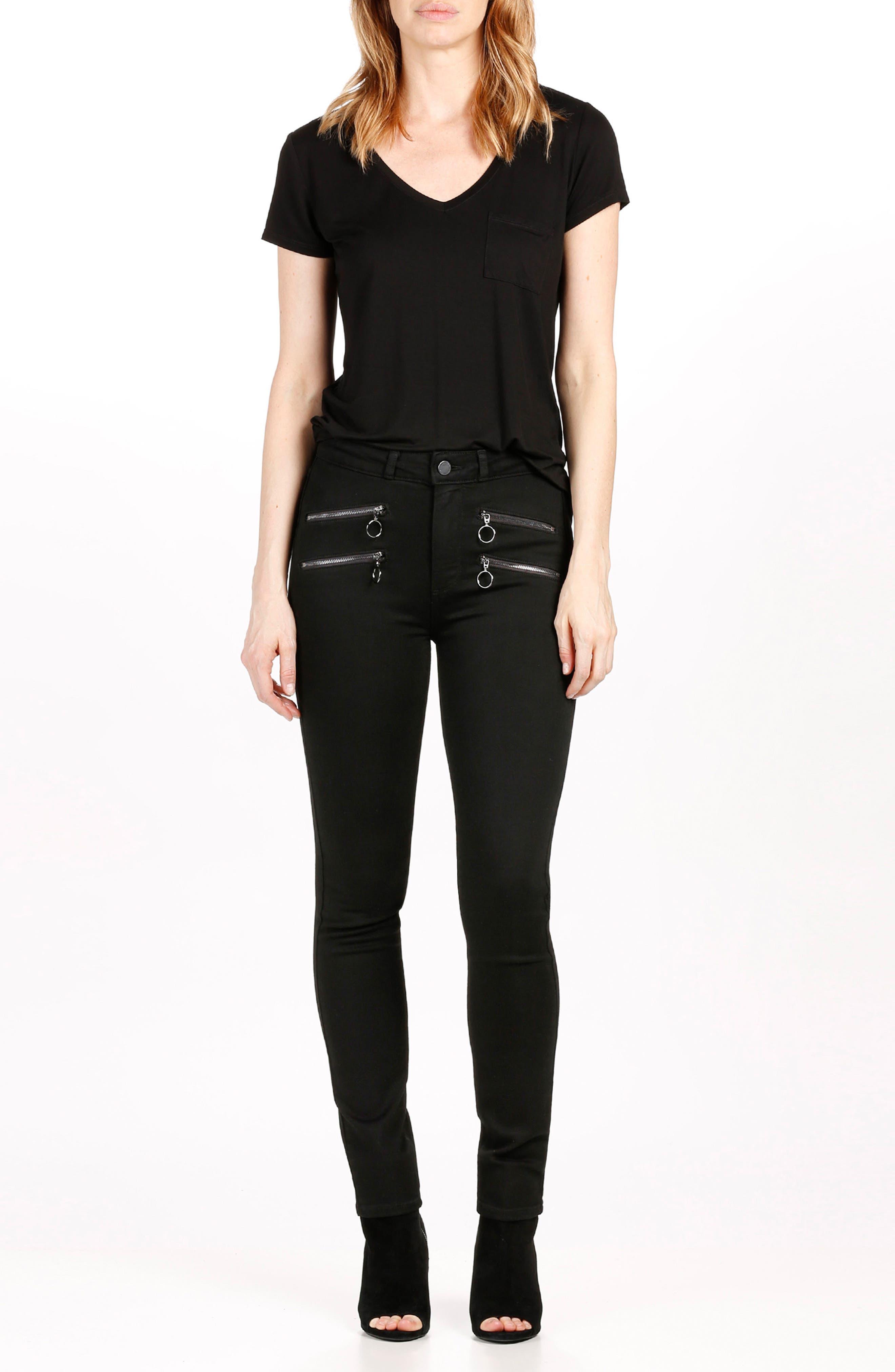 Alternate Image 2  - PAIGE Transcend - Kylo High Waist Skinny Jeans (Black Shadow)