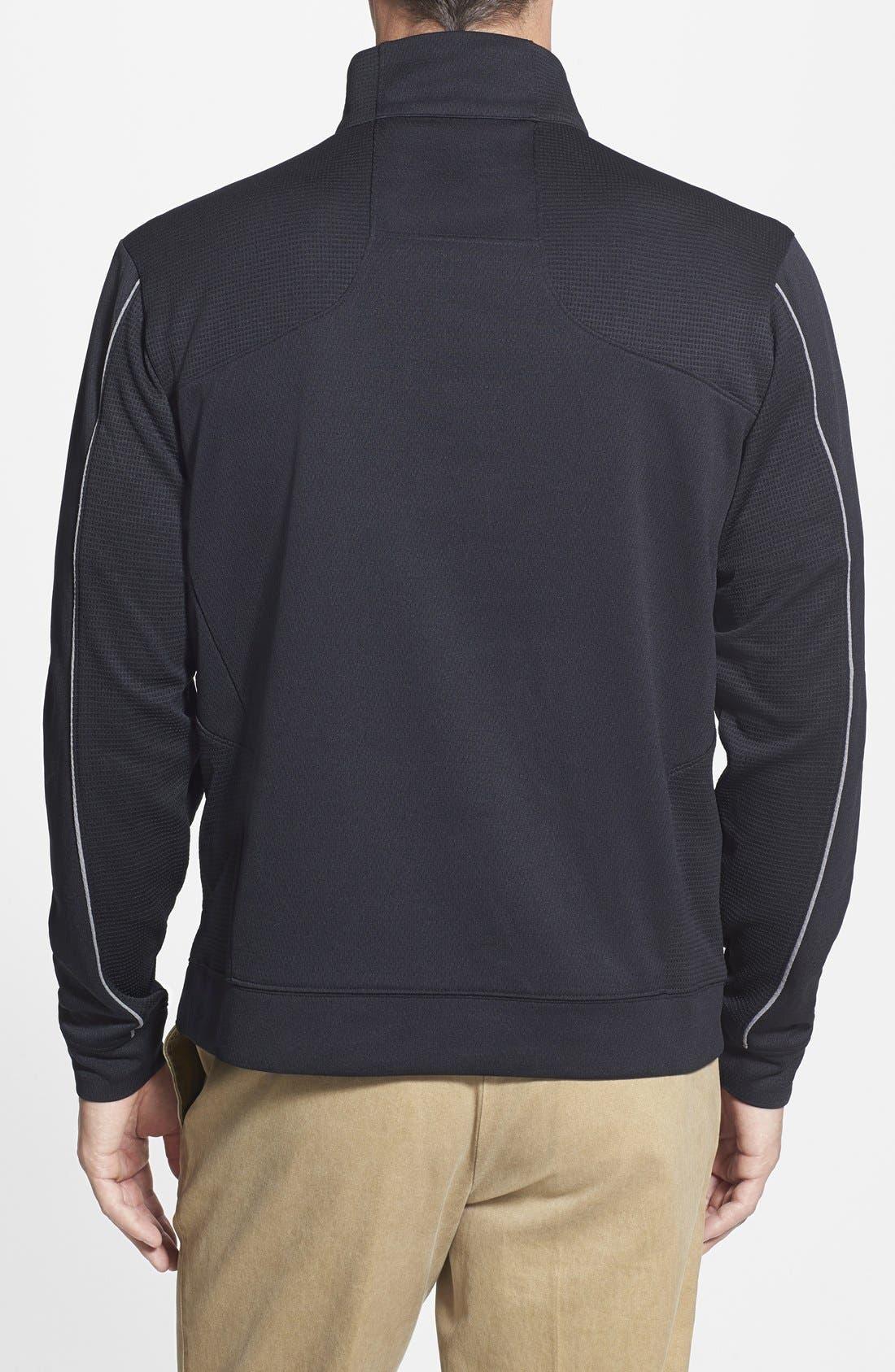 Tampa Bay Buccaneers - Edge DryTec Moisture Wicking Half Zip Pullover,                             Alternate thumbnail 2, color,                             Black