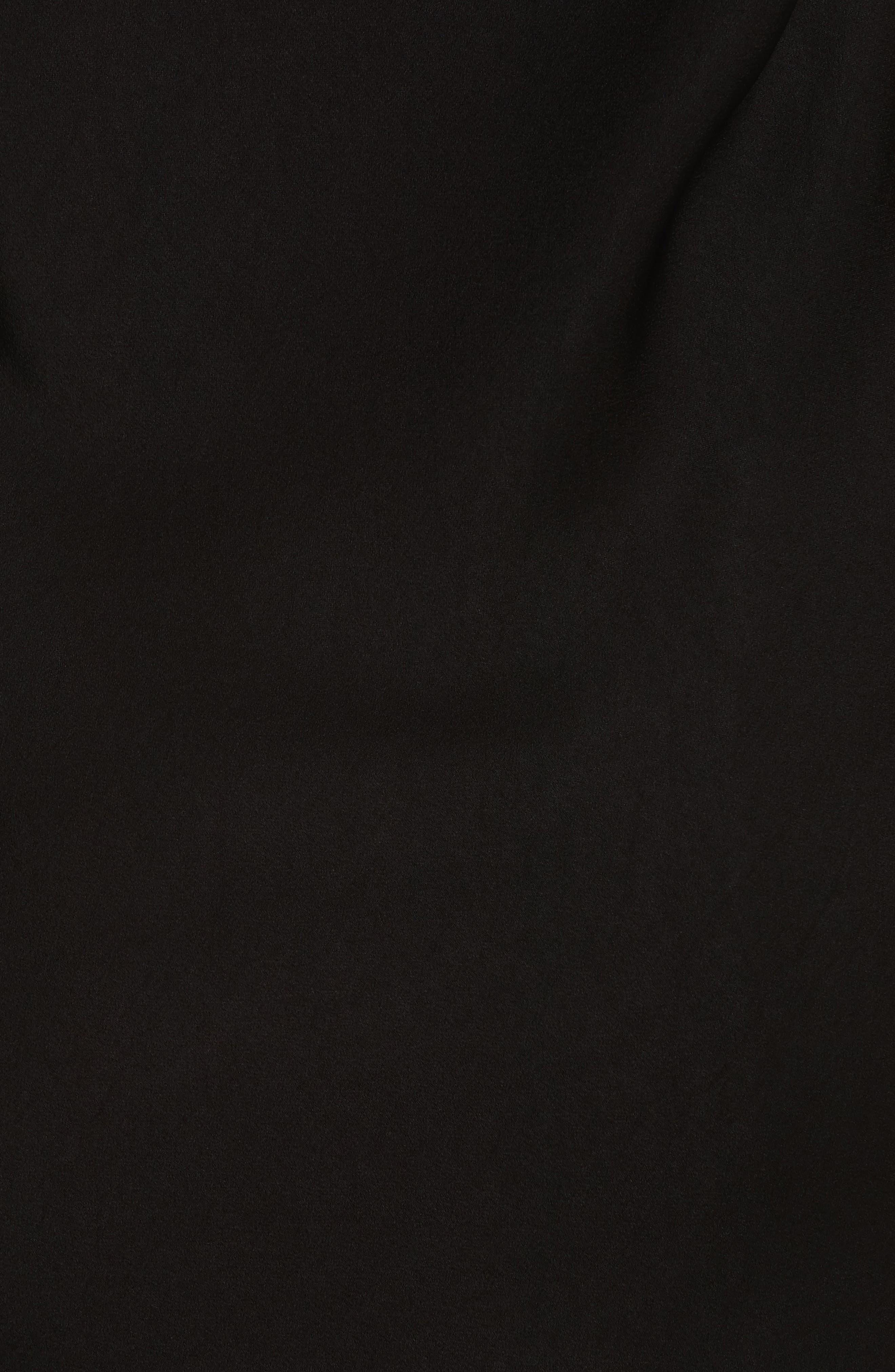 Danel Twist Cowl Back Top,                             Alternate thumbnail 5, color,                             Black