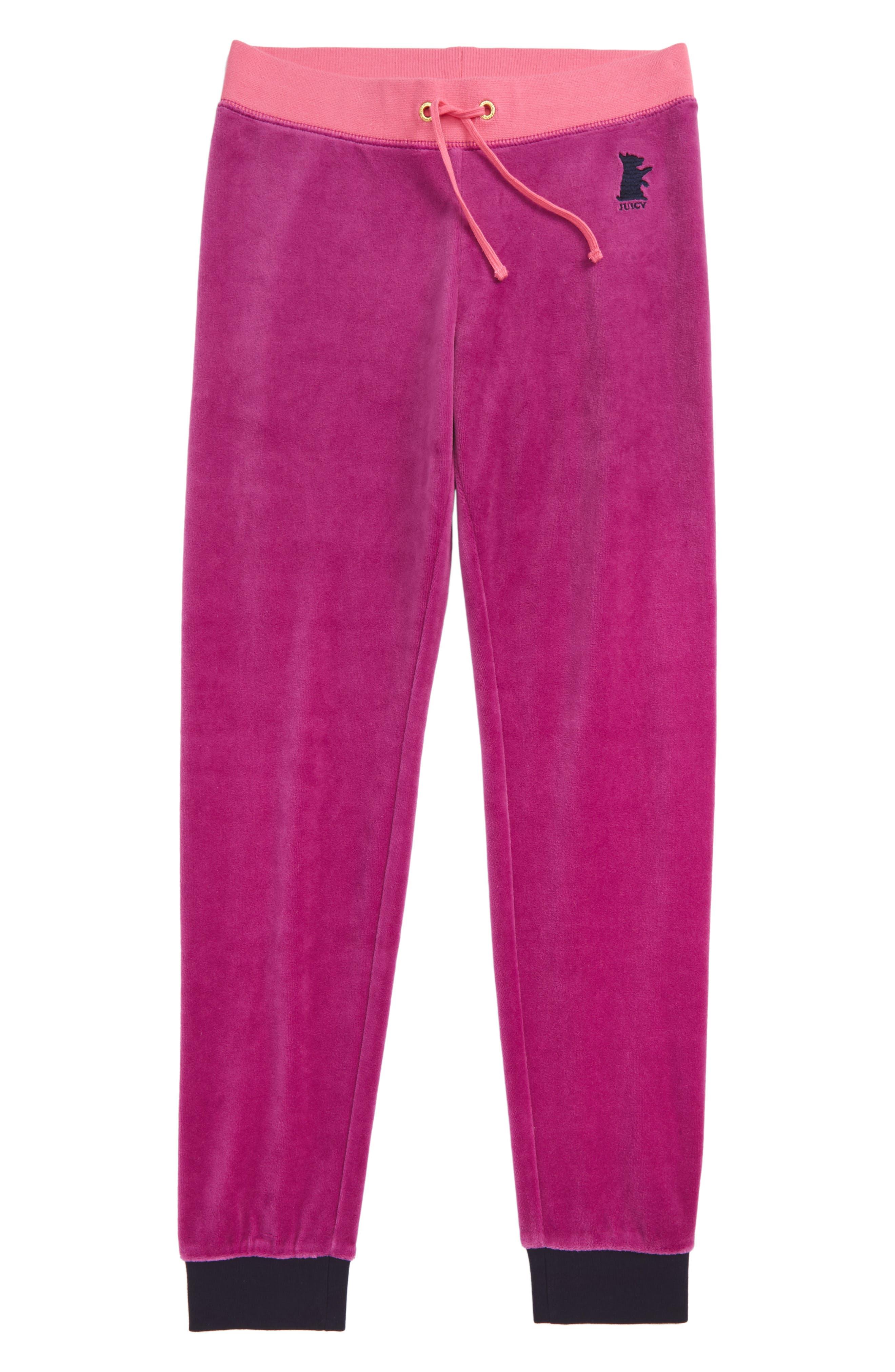 Zuma Velour Pants,                         Main,                         color, Boysenberry