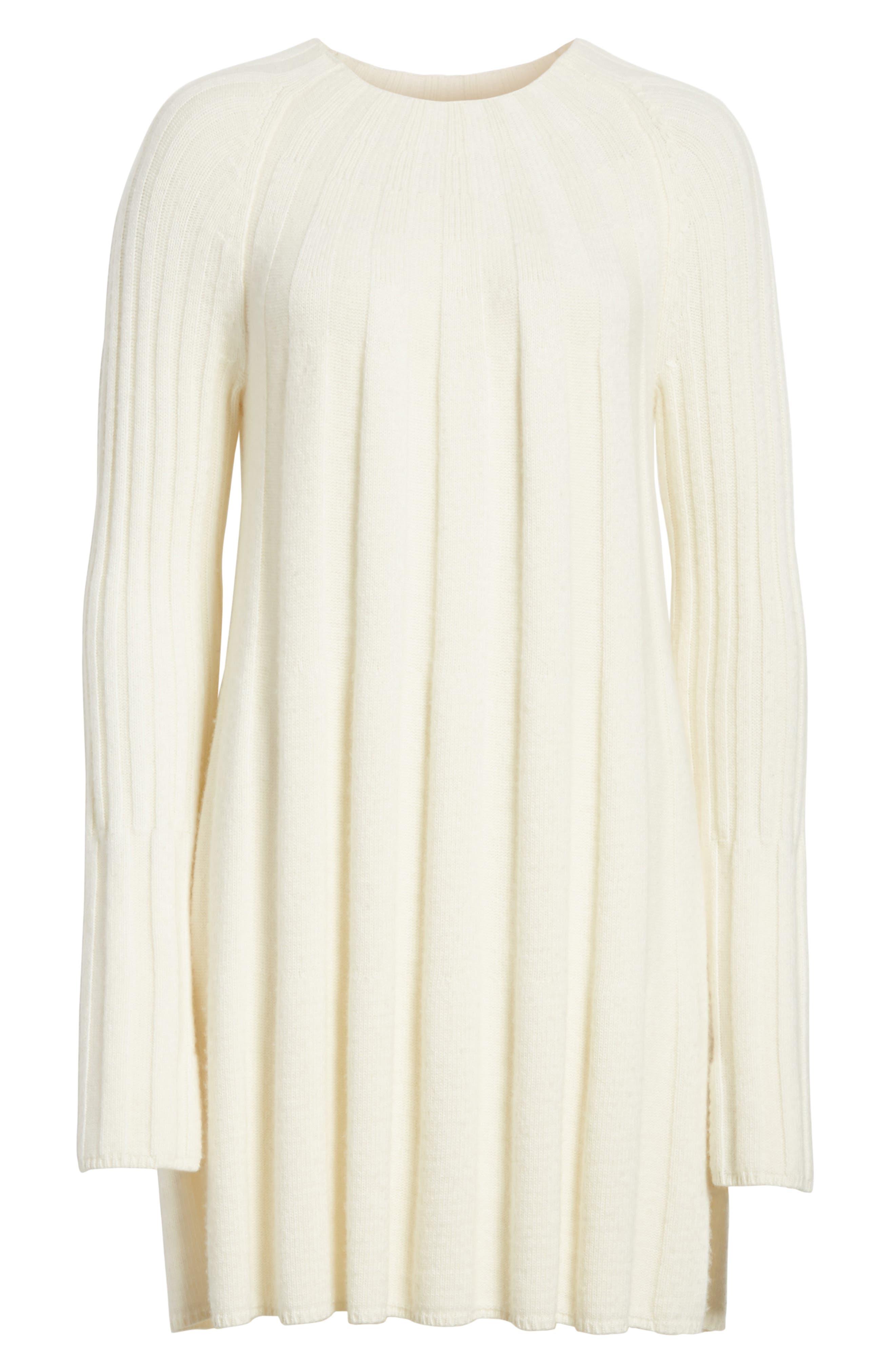 Gerri Knit Swing Dress,                             Alternate thumbnail 6, color,                             Ivory